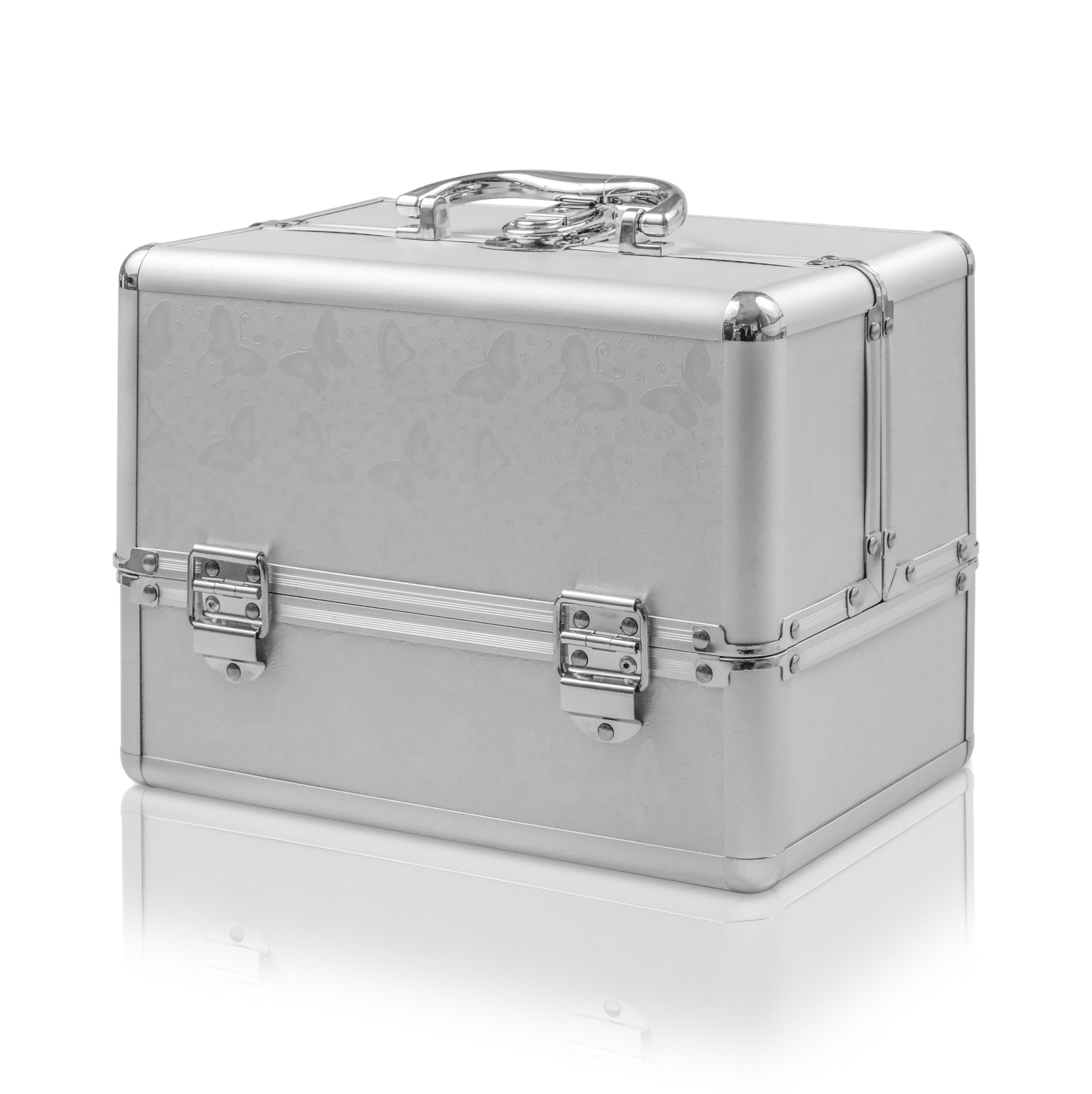 NANI Kozmetický kufrík Motýlik NN04 - Silver