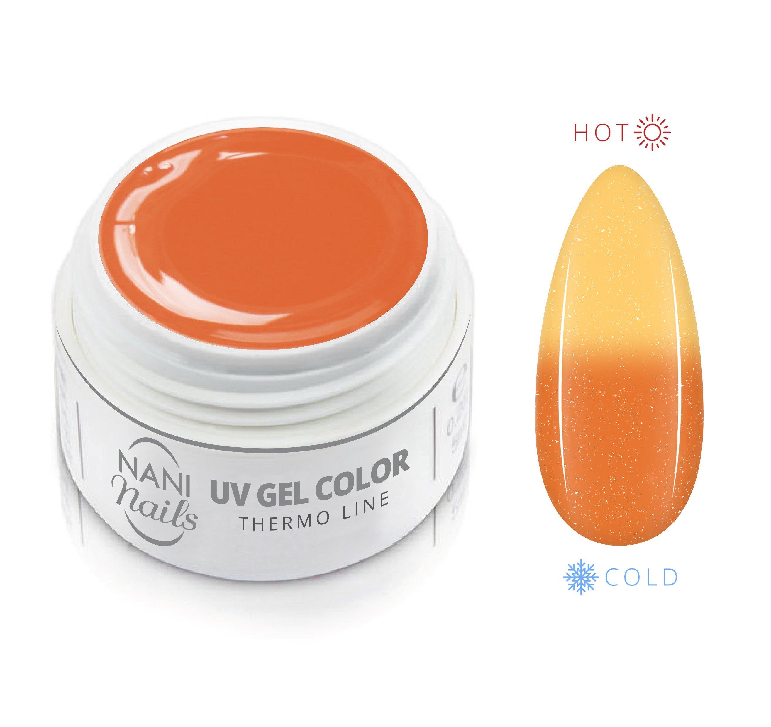 NANI termo UV gél 5 ml - Orange Yellow Glitter