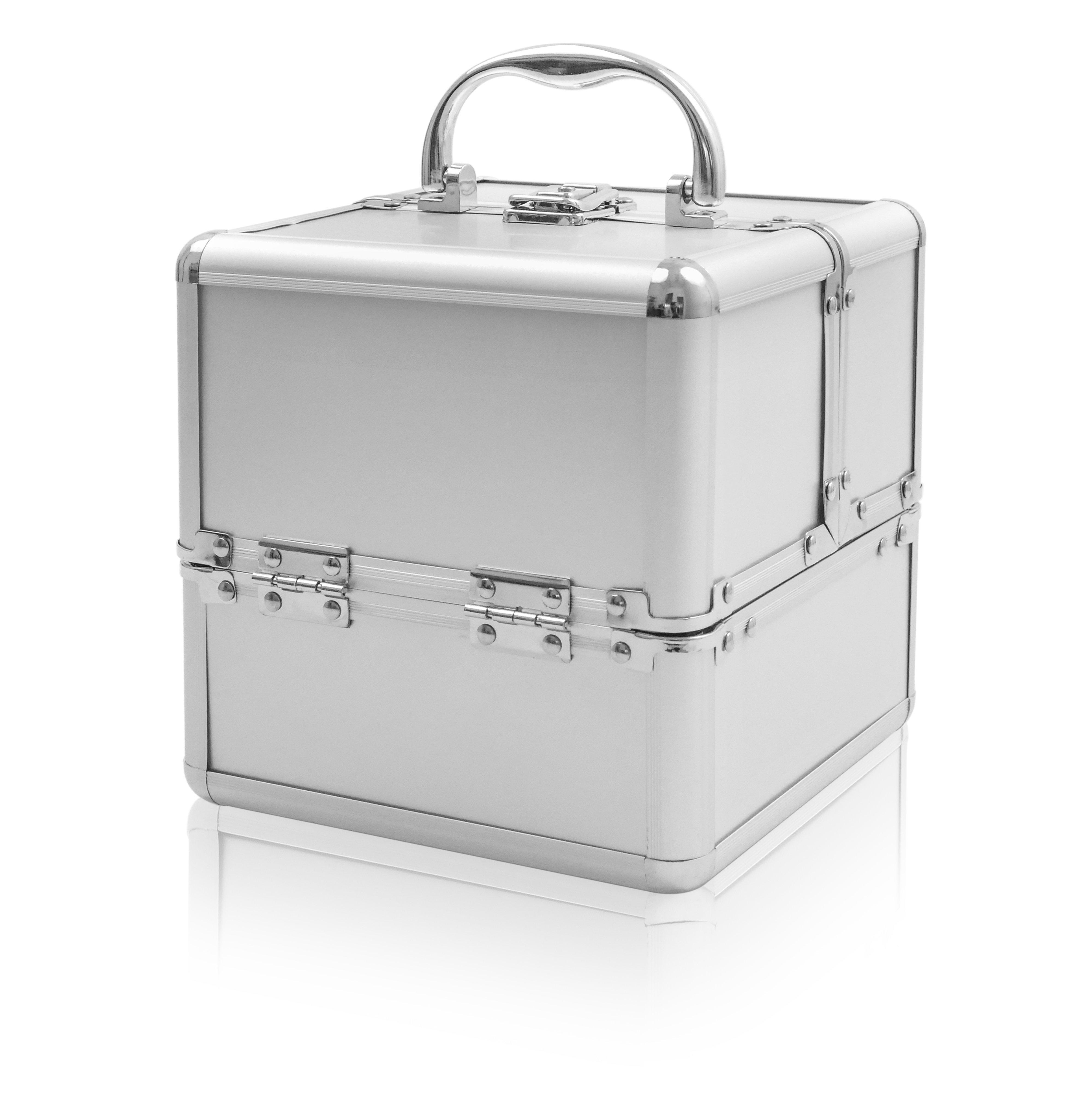 NANI kozmetický kufrík Kocka - Strieborná