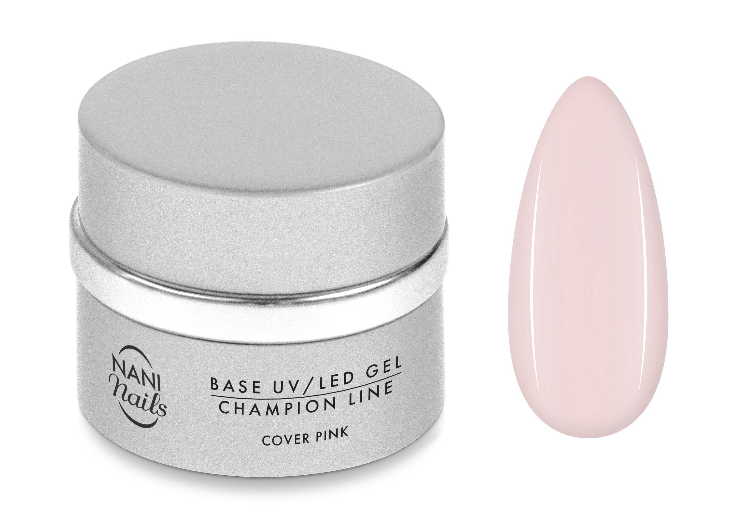 NANI UV/LED gél Champion Line 5 ml - Base Cover Pink
