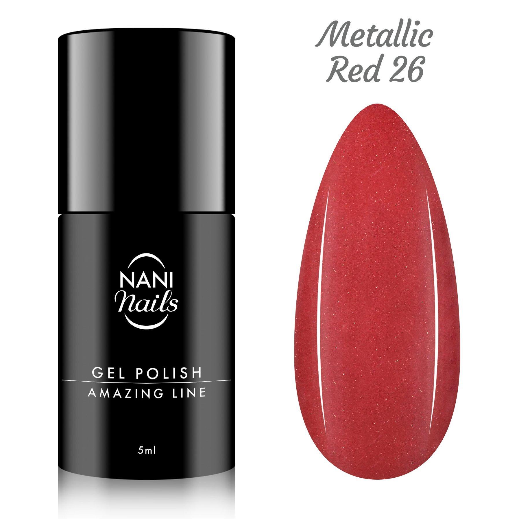 NANI gél lak Amazing Line 5 ml - Metallic Red