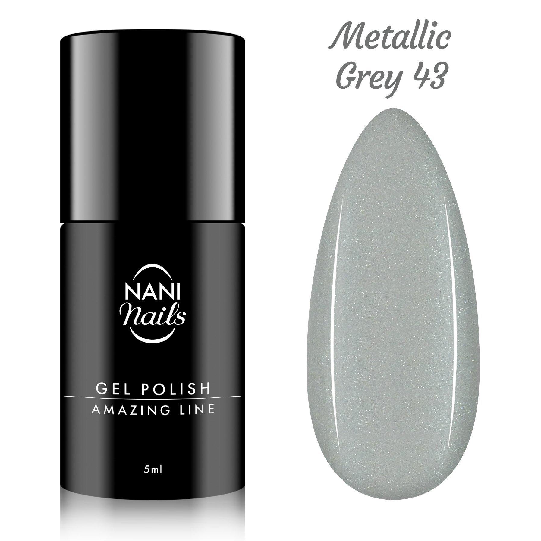 NANI gél lak Amazing Line 5 ml - Metallic Grey