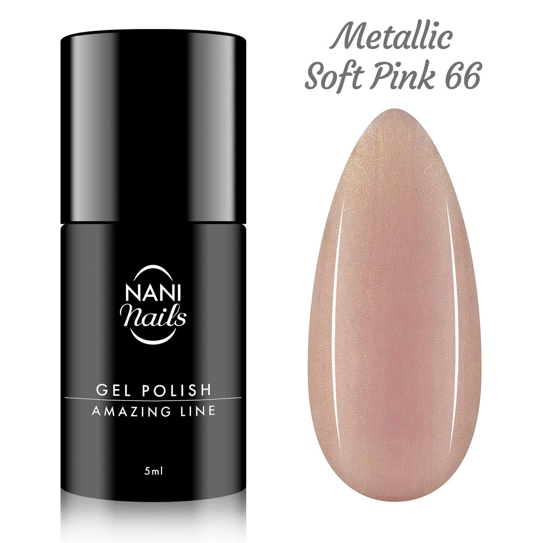NANI gél lak Amazing Line 5 ml - Metallic Soft Pink