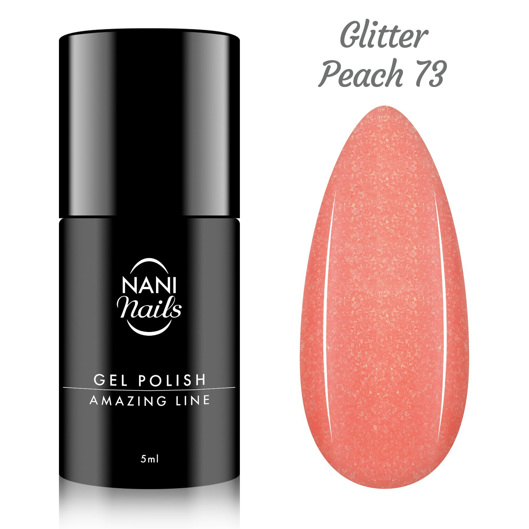 NANI gél lak Amazing Line 5 ml - Glitter Peach