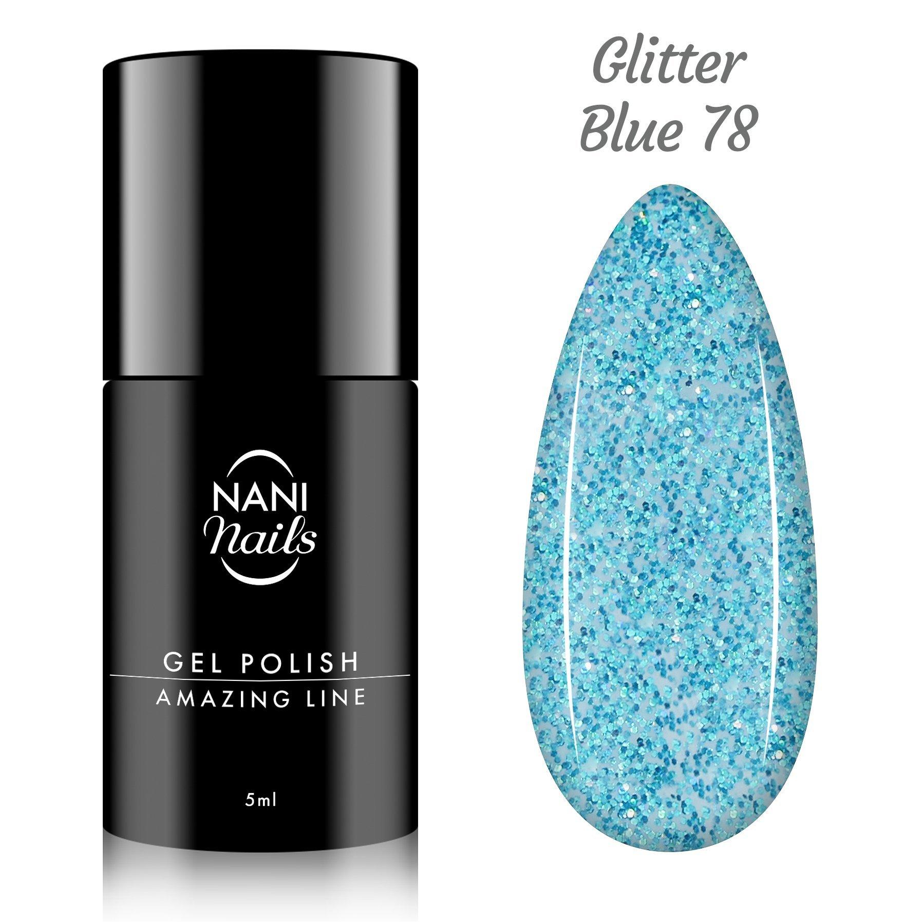NANI gél lak Amazing Line 5 ml - Glitter Blue