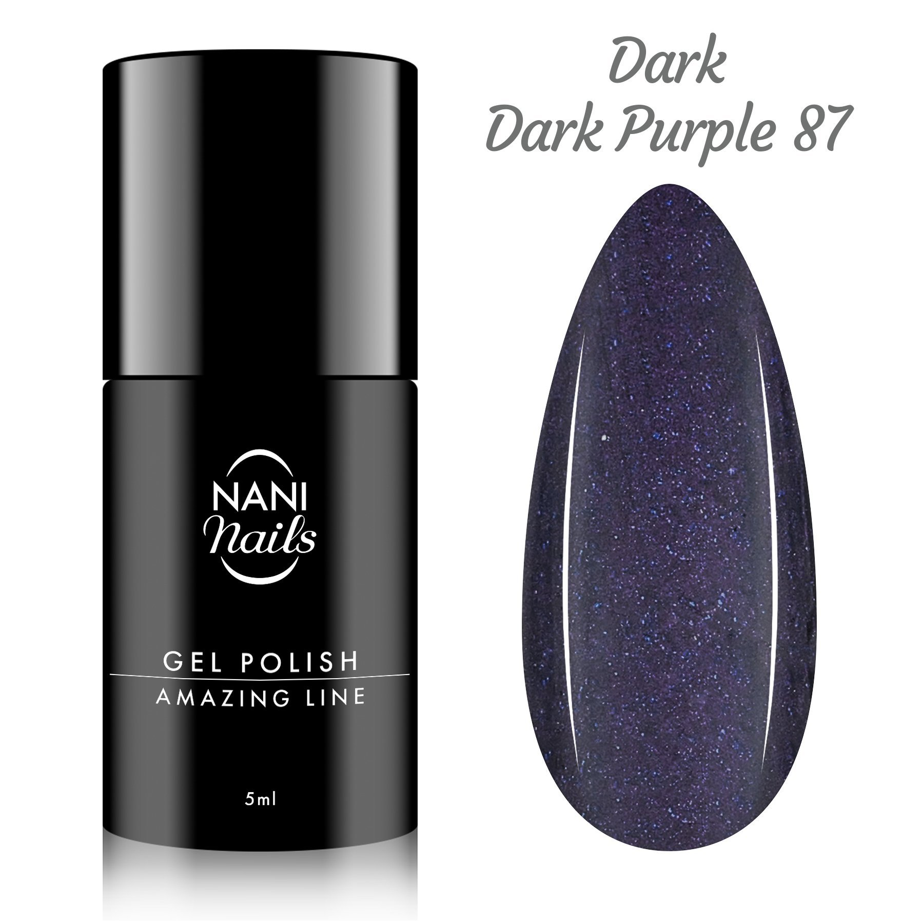 NANI gél lak Amazing Line 5 ml - Metallic Dark Purple