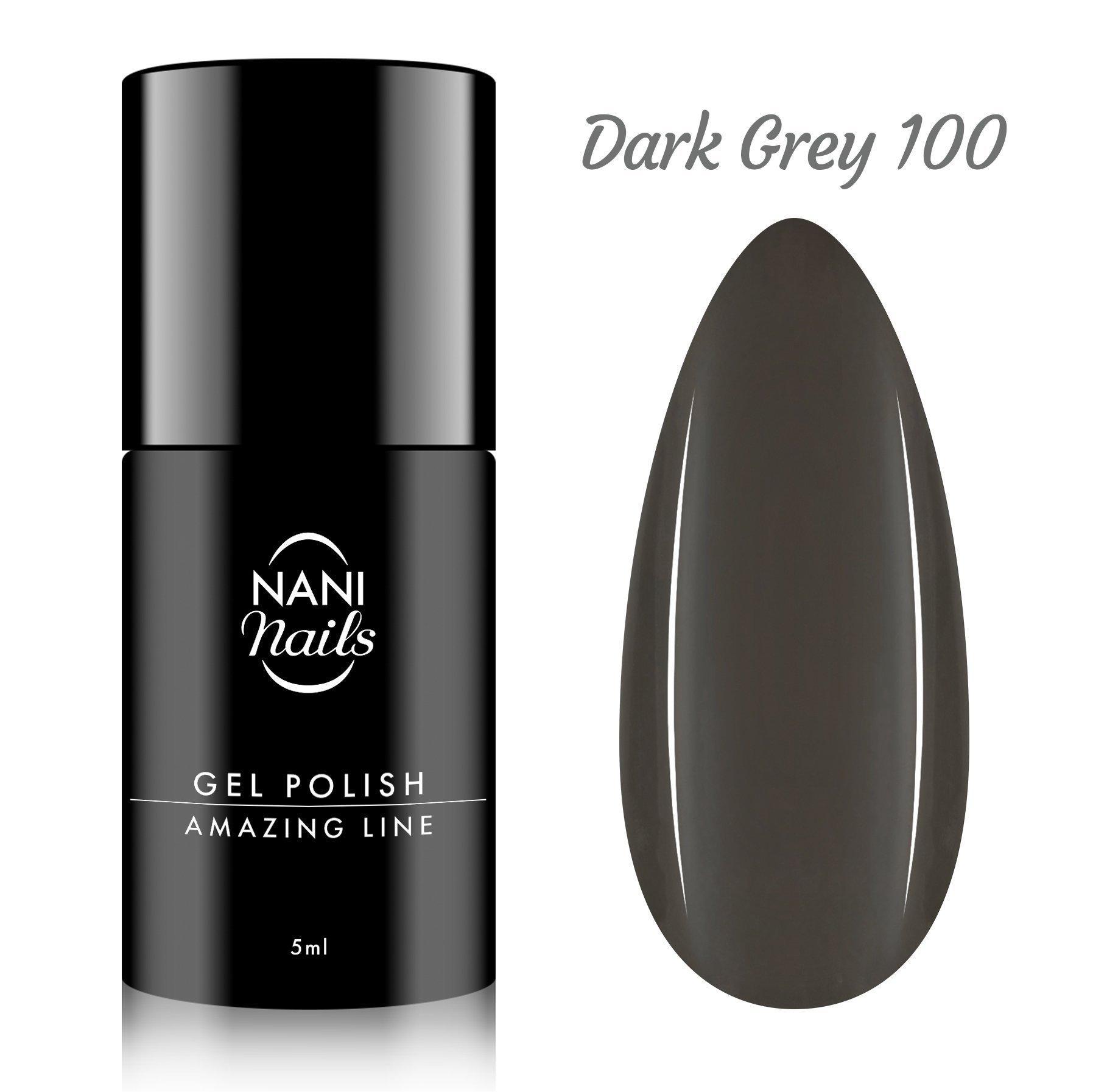 NANI gél lak Amazing Line 5 ml - Dark Grey