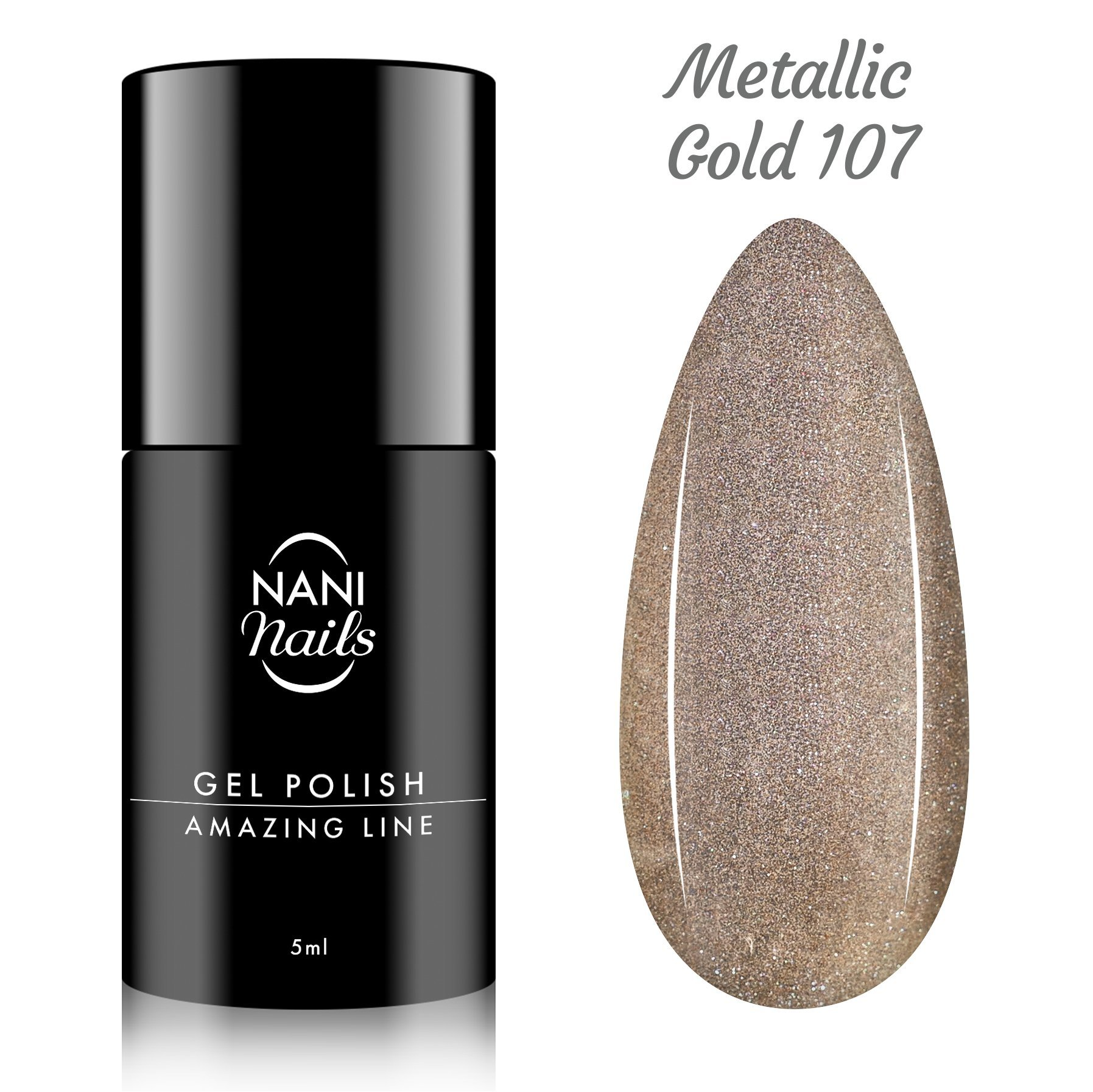 NANI gél lak Amazing Line 5 ml - Metallic Gold
