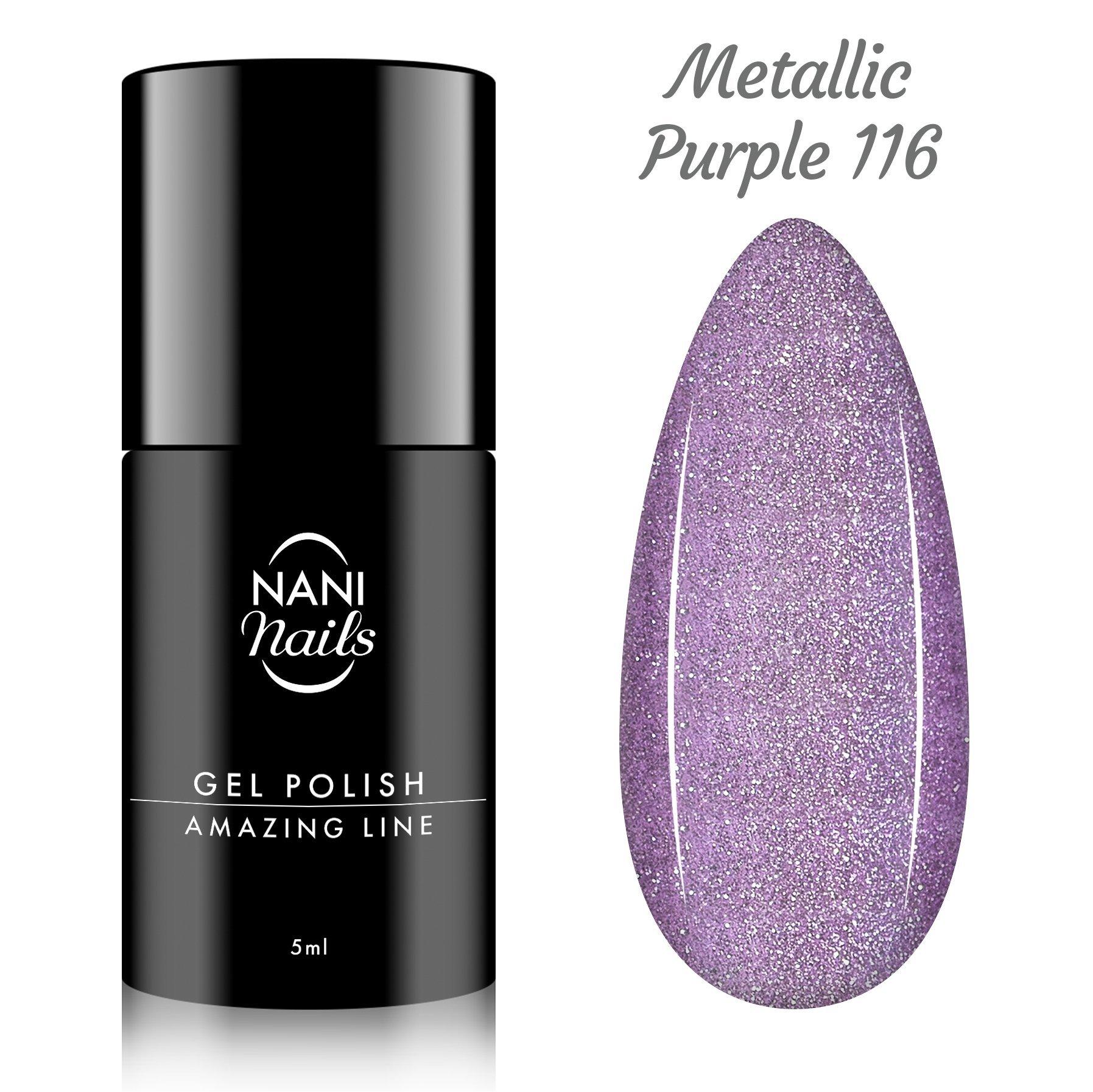 NANI gél lak Amazing Line 5 ml - Metallic Purple