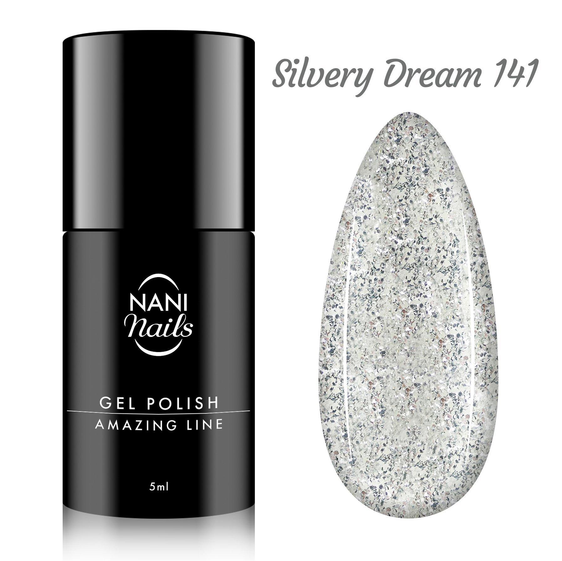 NANI gél lak Amazing Line 5 ml - Silvery Dream