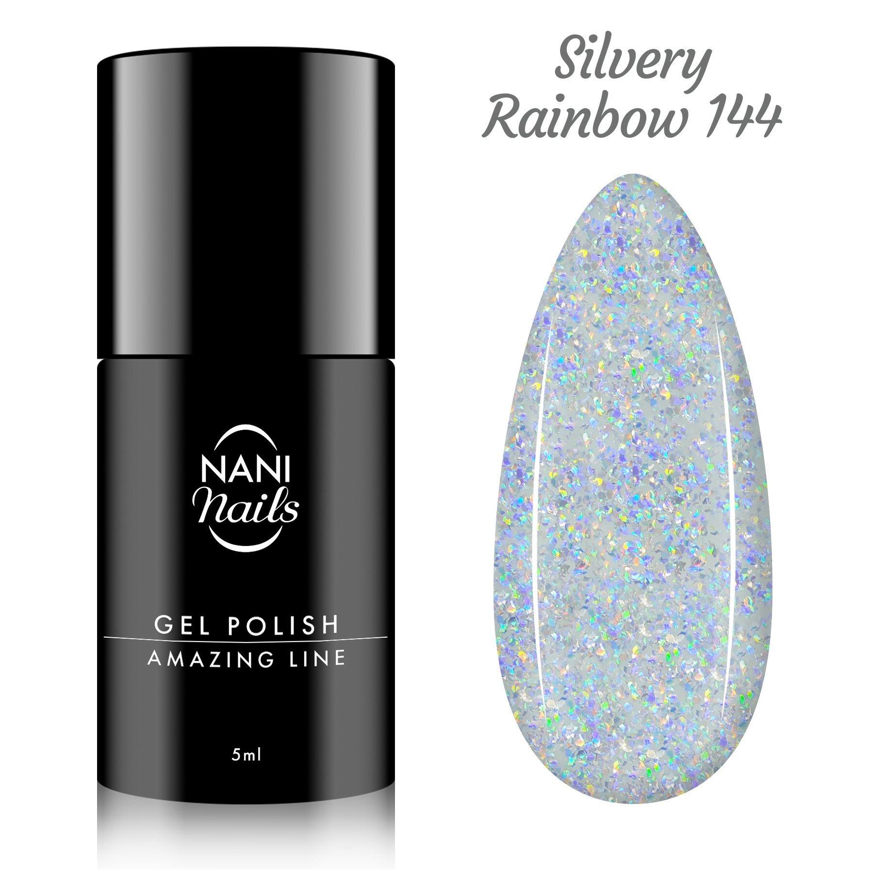 NANI gél lak Amazing Line 5 ml - Silvery Rainbow