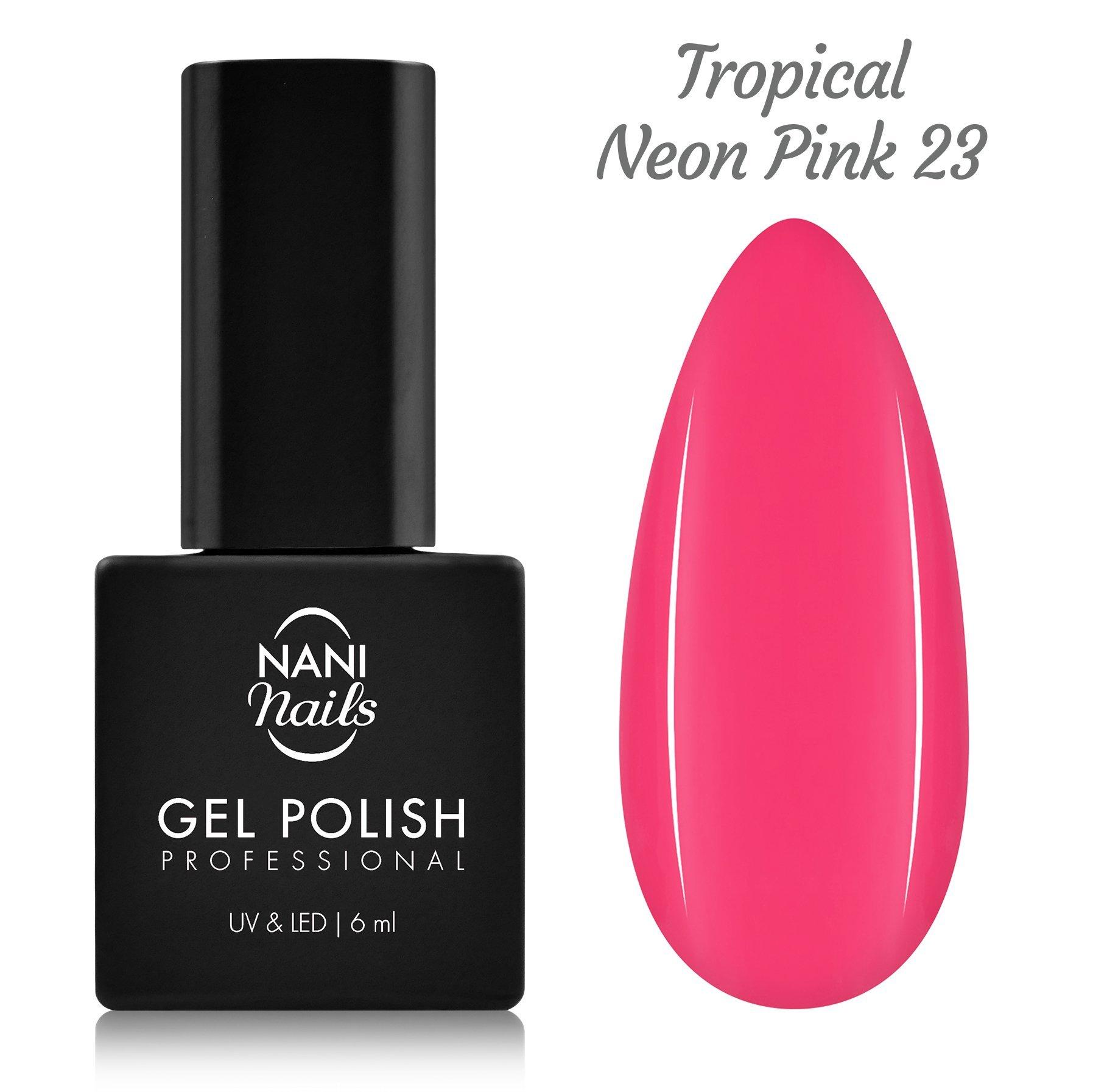 NANI gél lak 6 ml - Tropical Neon Pink