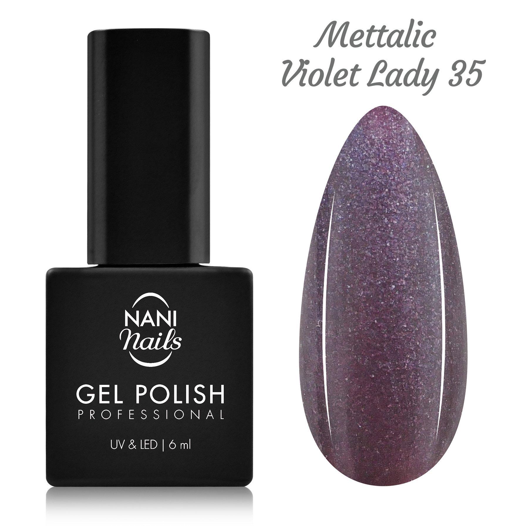 NANI gél lak 6 ml - Metallic Violet Lady