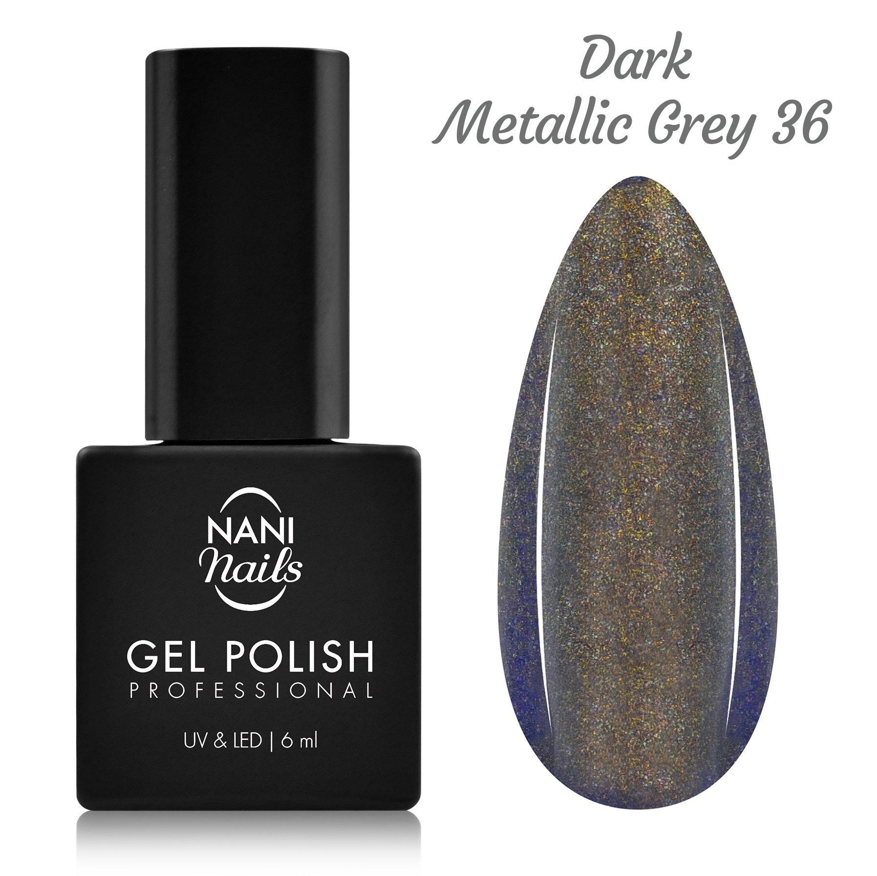 NANI gél lak 6 ml - Dark Metallic Grey