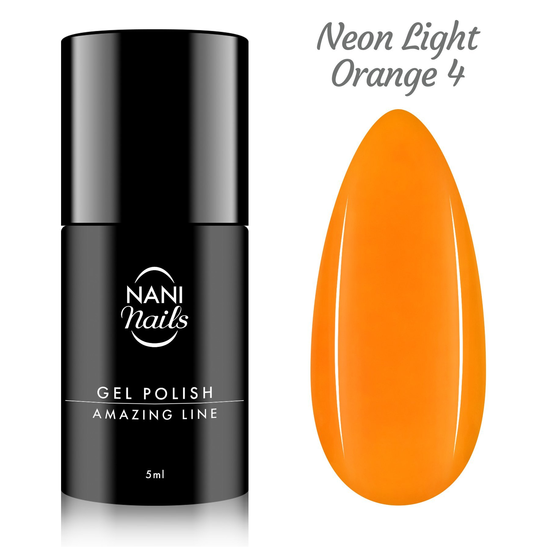 NANI gél lak Amazing Line 5 ml - Neon Light Orange