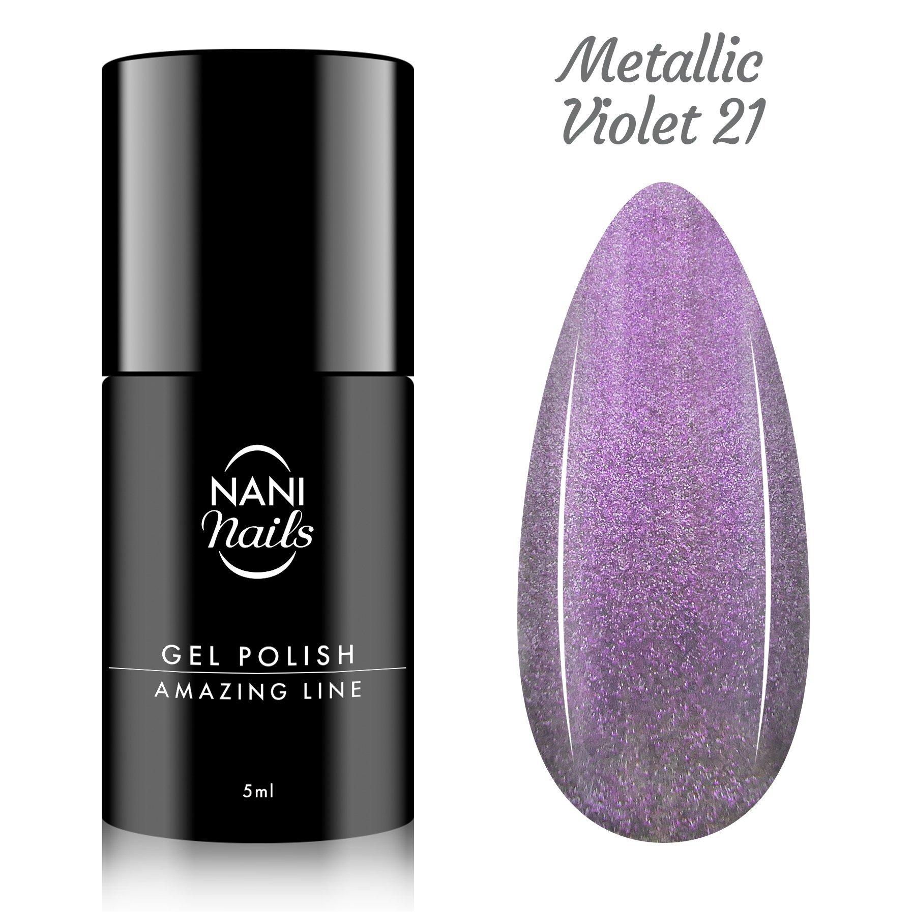 NANI gél lak Amazing Line 5 ml - Metallic Violet