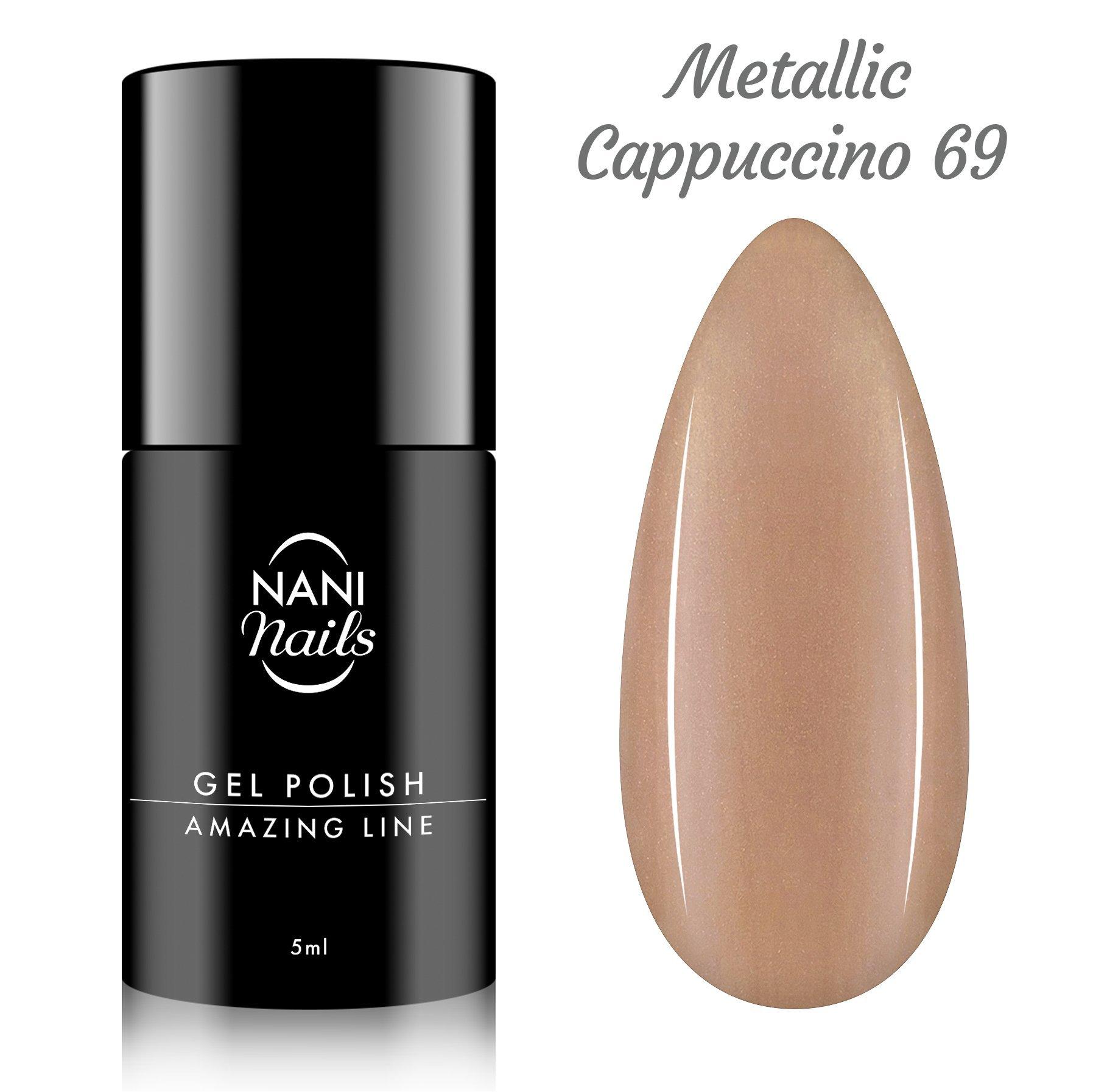 NANI gél lak Amazing Line 5 ml - Metallic Cappuccino