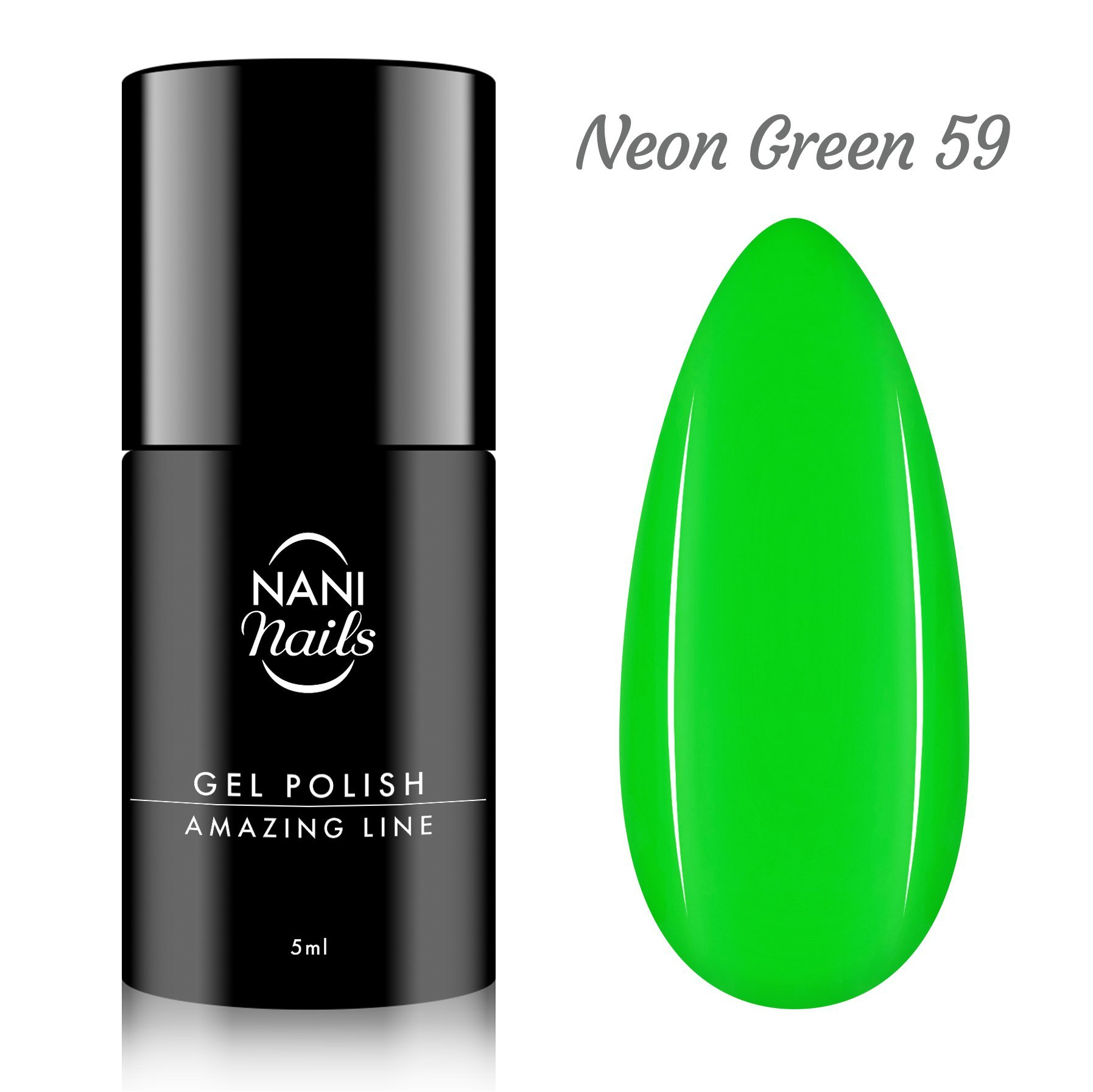NANI gél lak Amazing Line 5 ml - Neon Green