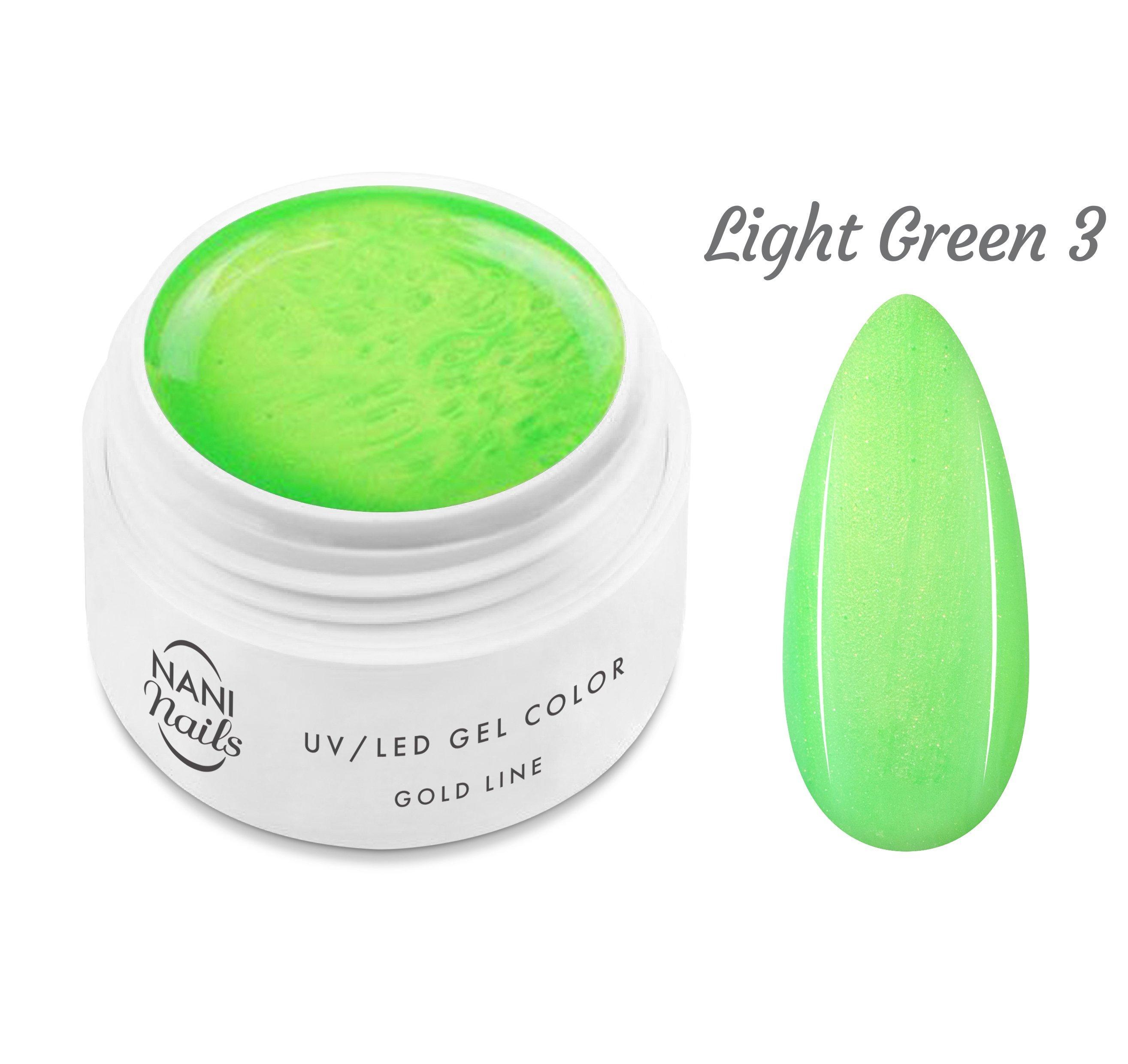NANI UV gél Gold Line 5 ml - Light Green