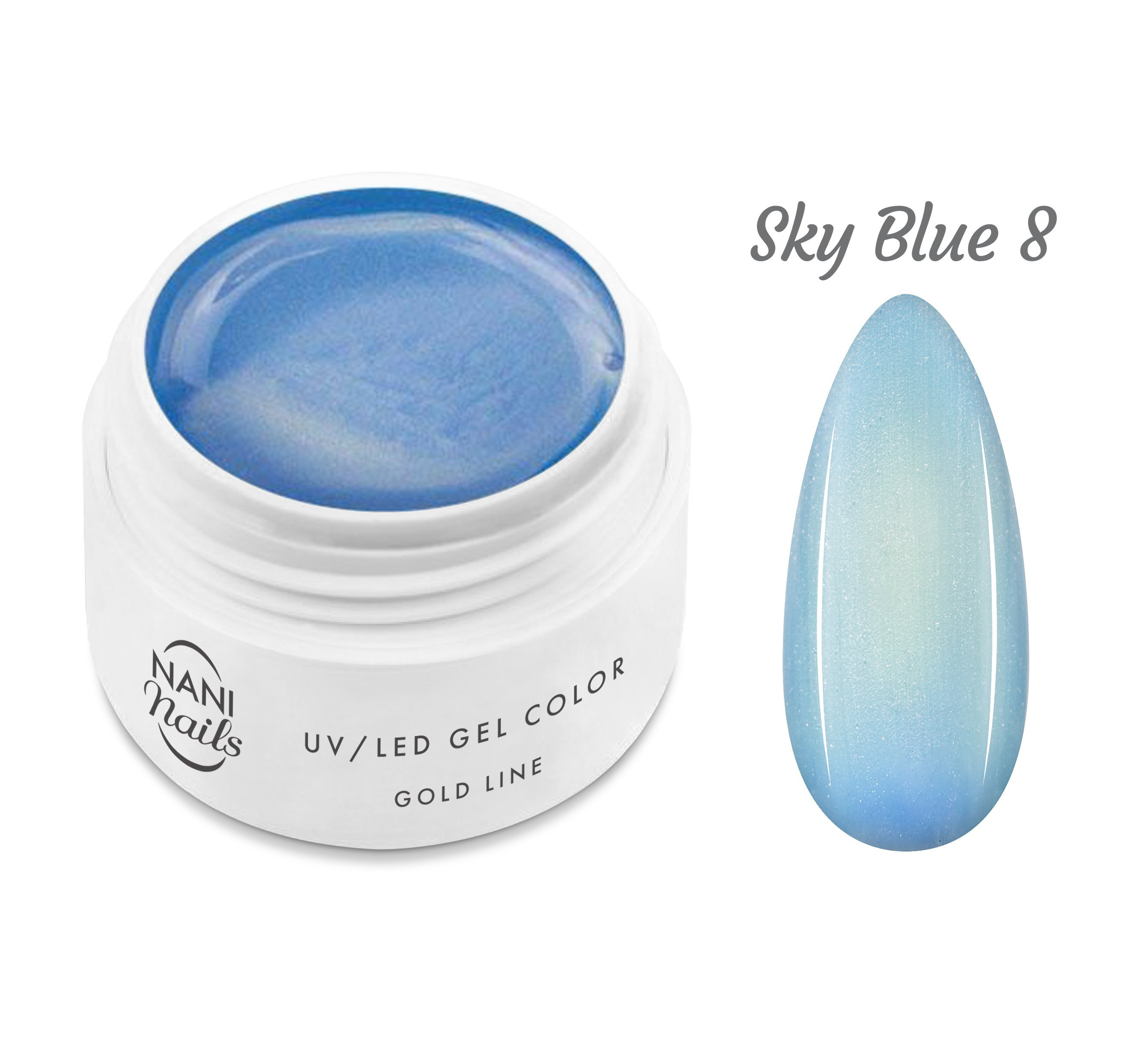NANI UV gél Gold Line 5 ml - Sky Blue