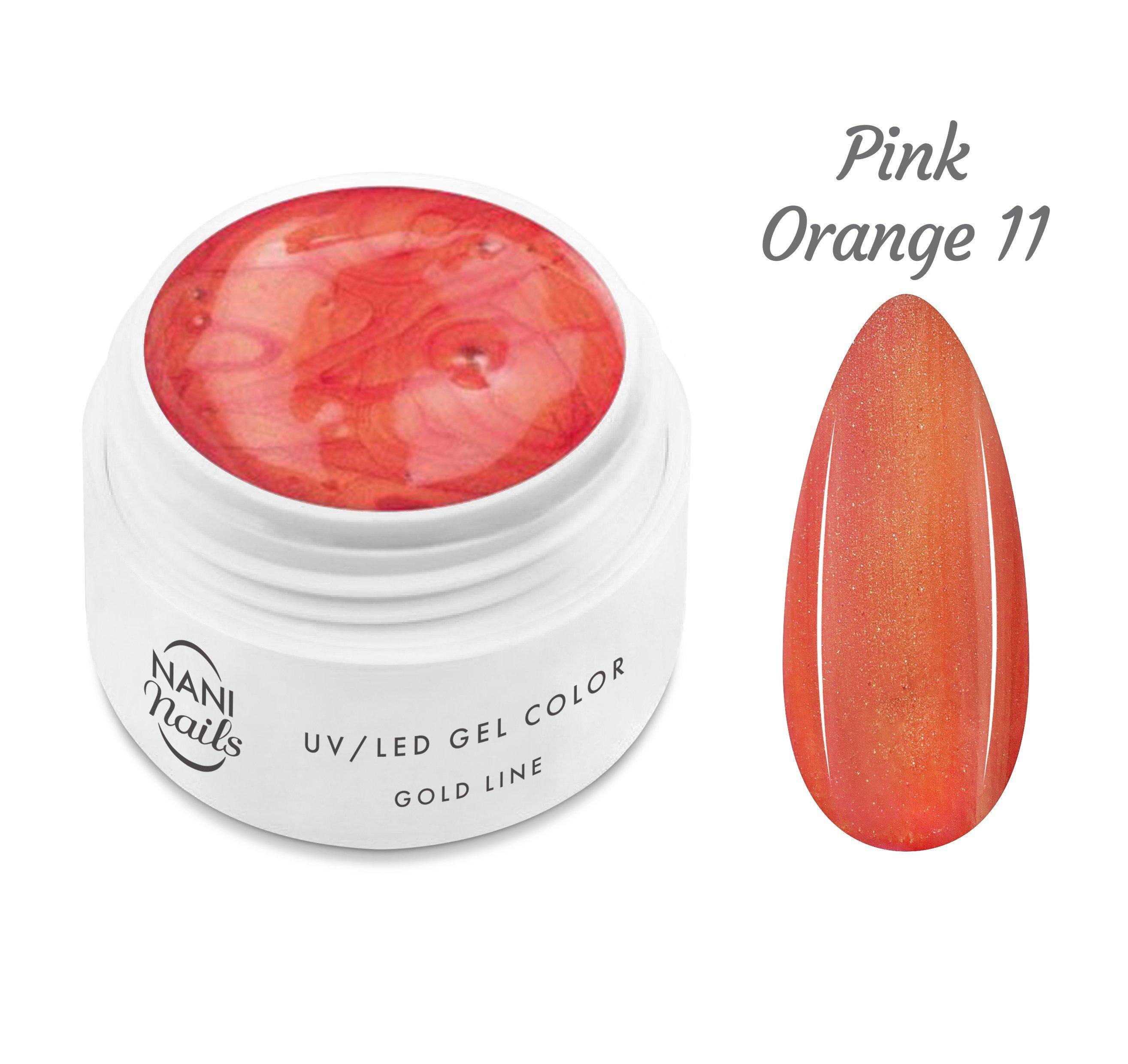 NANI UV gél Gold Line 5 ml - Pink Orange