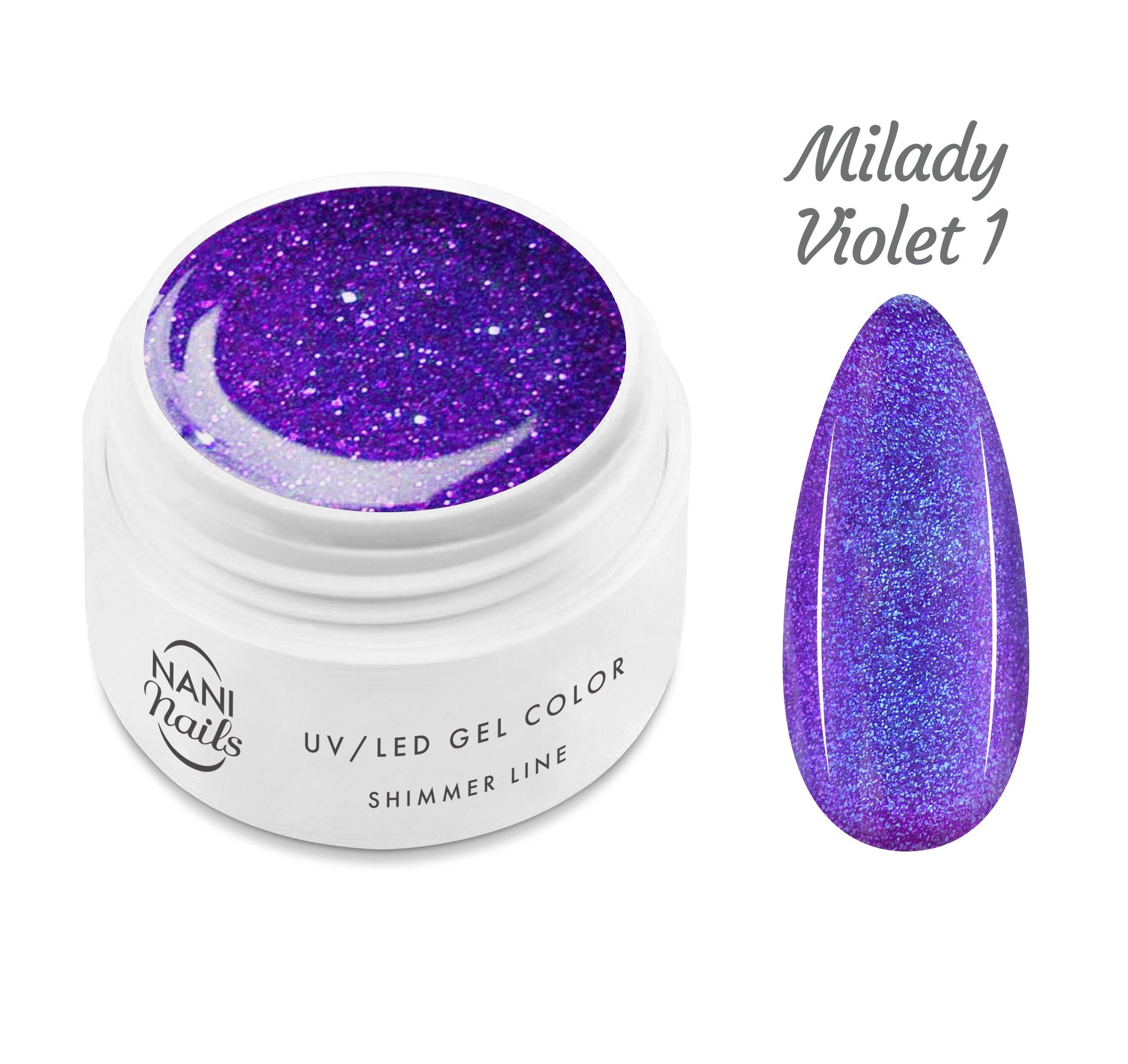 NANI UV gél Shimmer Line 5 ml - Milady Violet