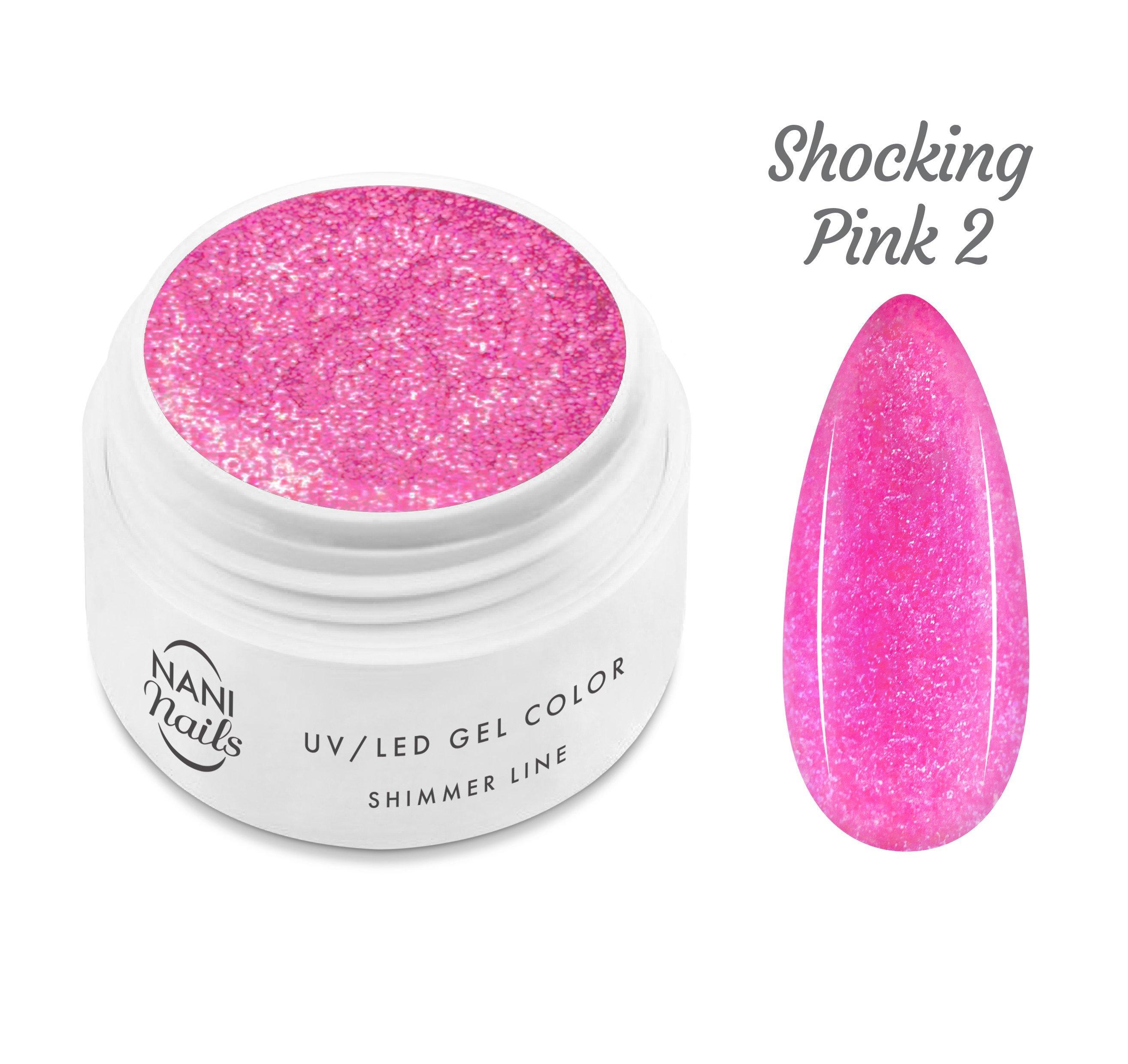 NANI UV gél Shimmer Line 5 ml - Shocking Pink