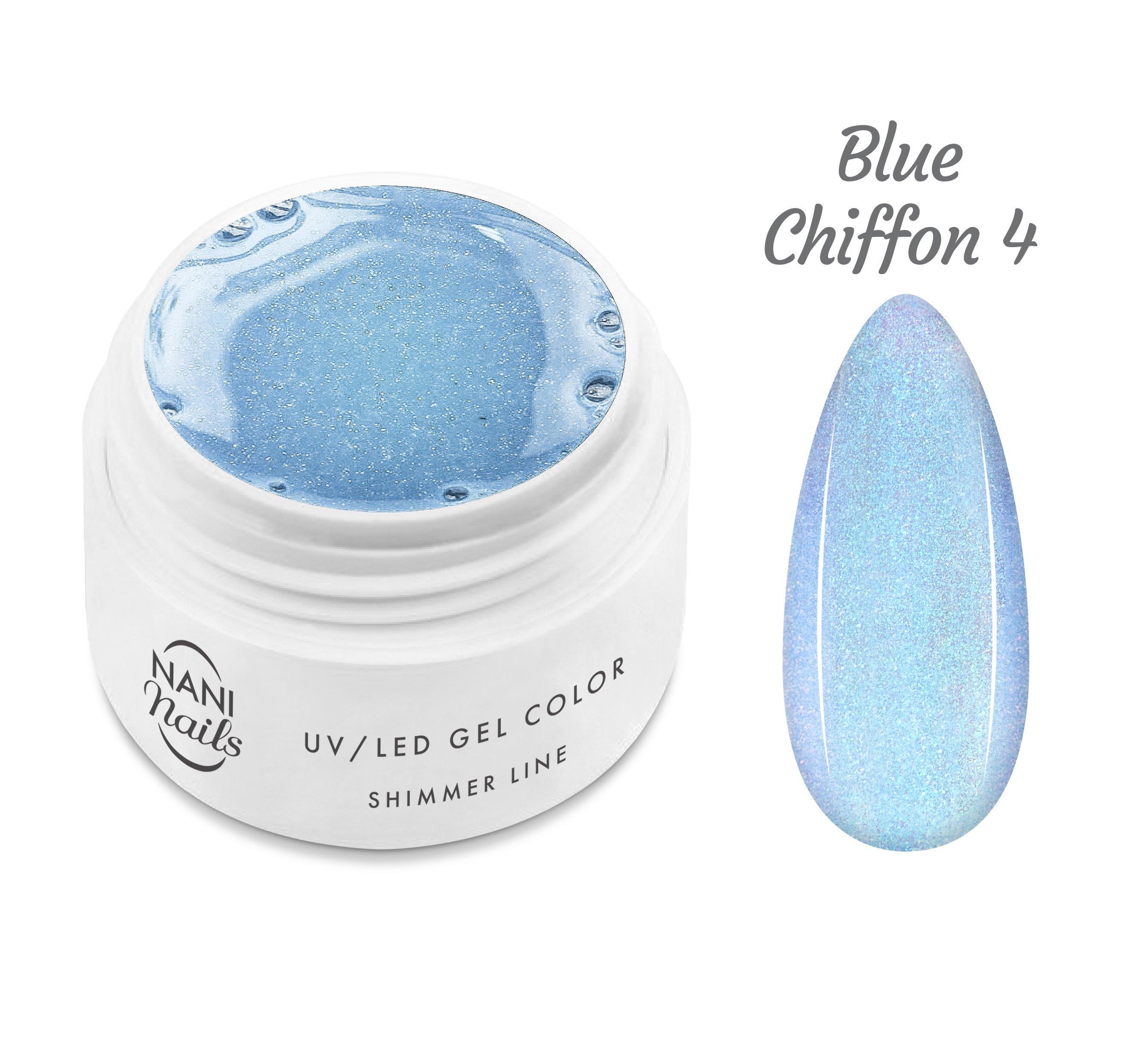NANI UV gél Shimmer Line 5 ml - Blue Chiffon