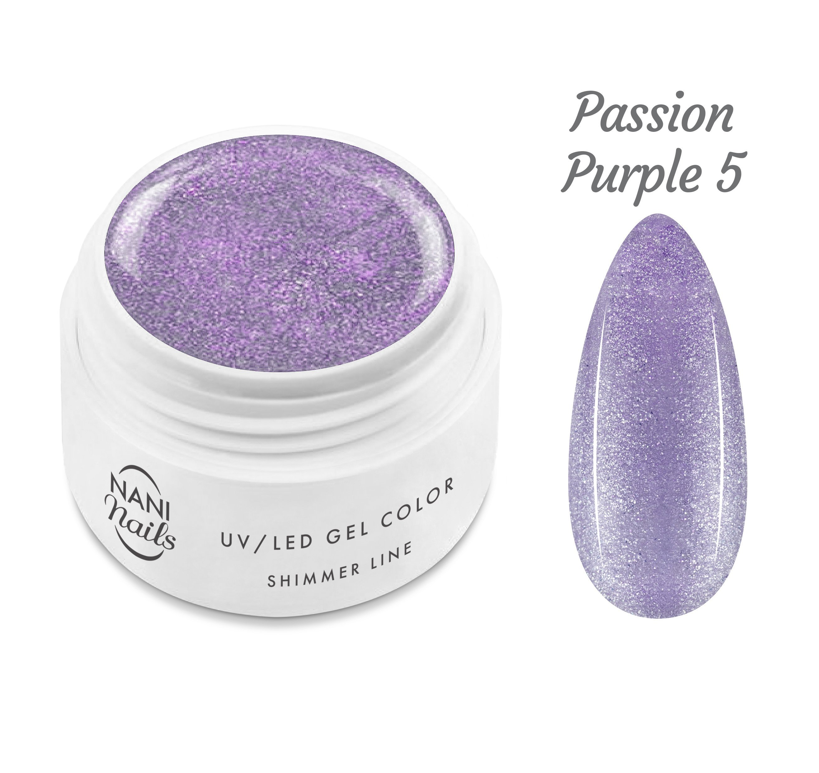 NANI UV gél Shimmer Line 5 ml - Passion Purple