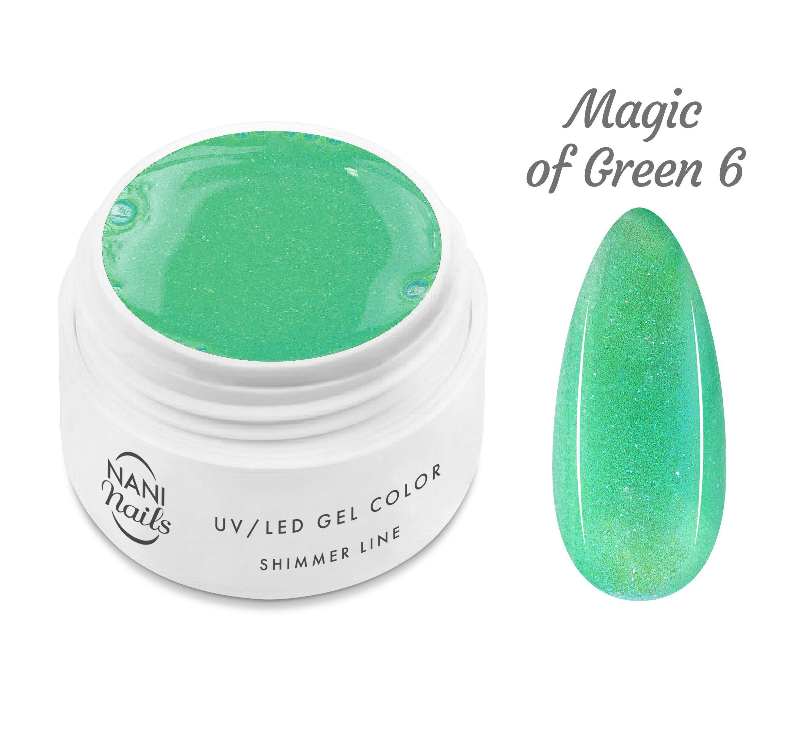 NANI UV gél Shimmer Line 5 ml - Magic of Green