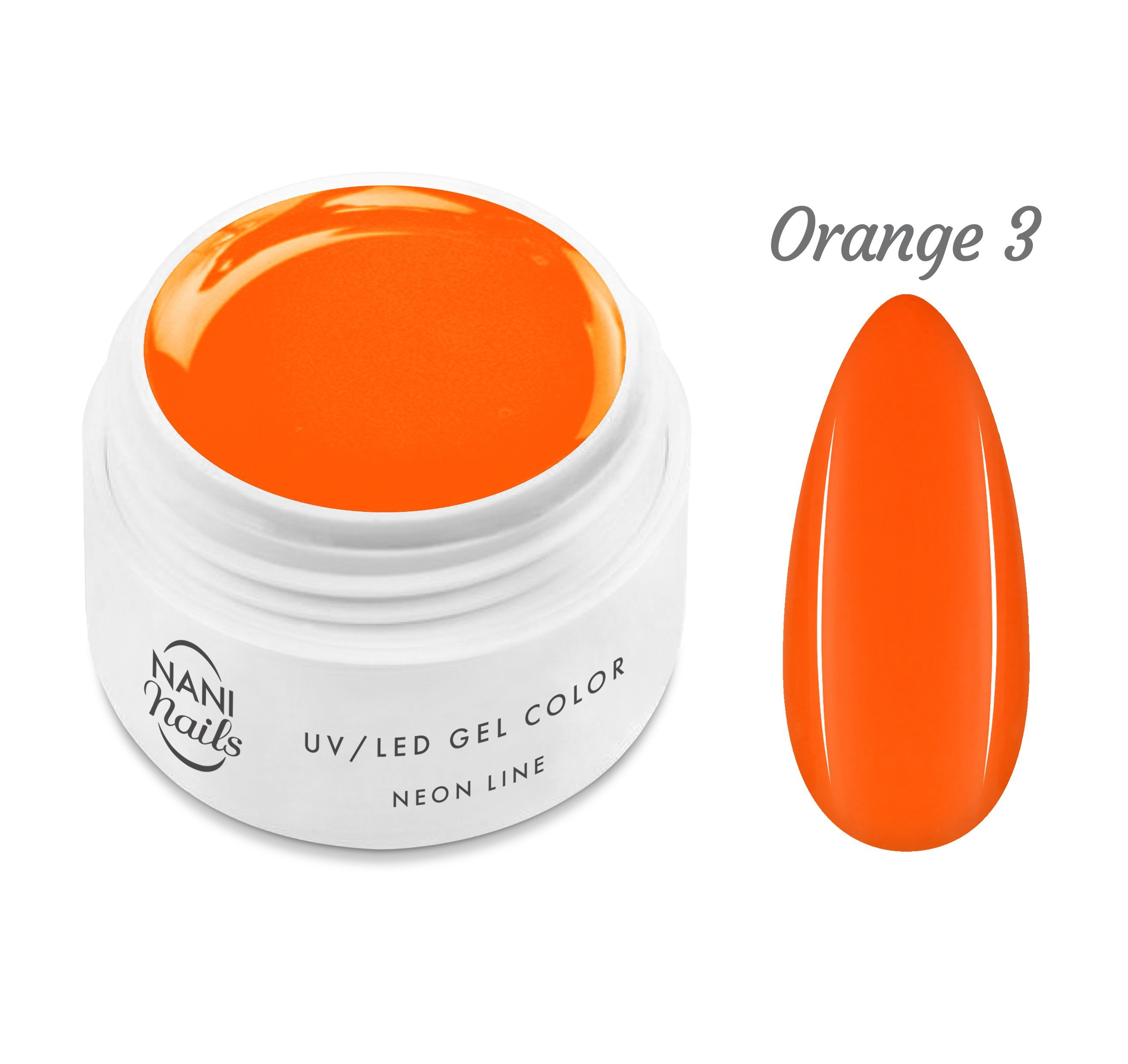 NANI UV gél Neon Line 5 ml - Orange