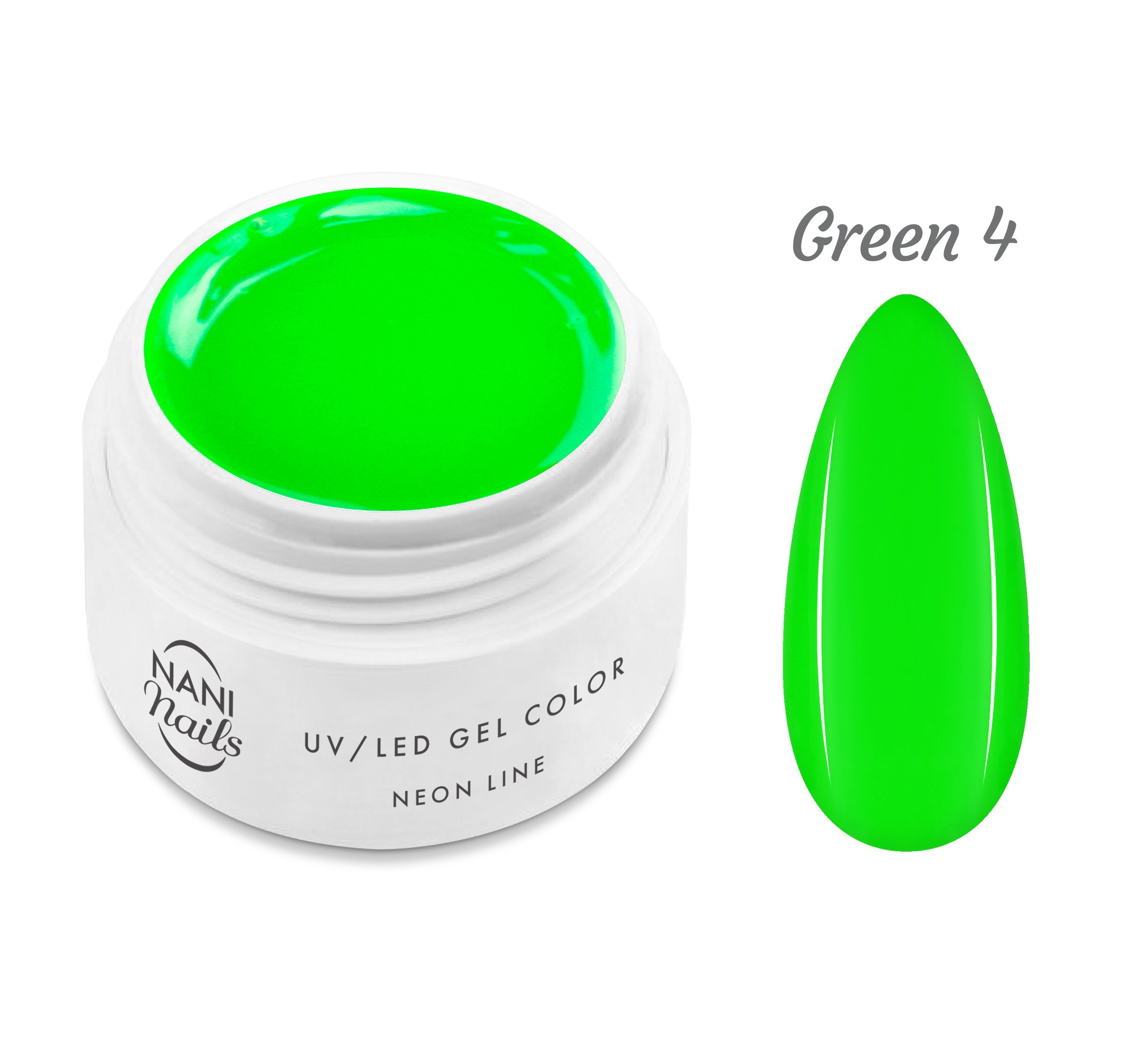 NANI UV gél Neon Line 5 ml - Green