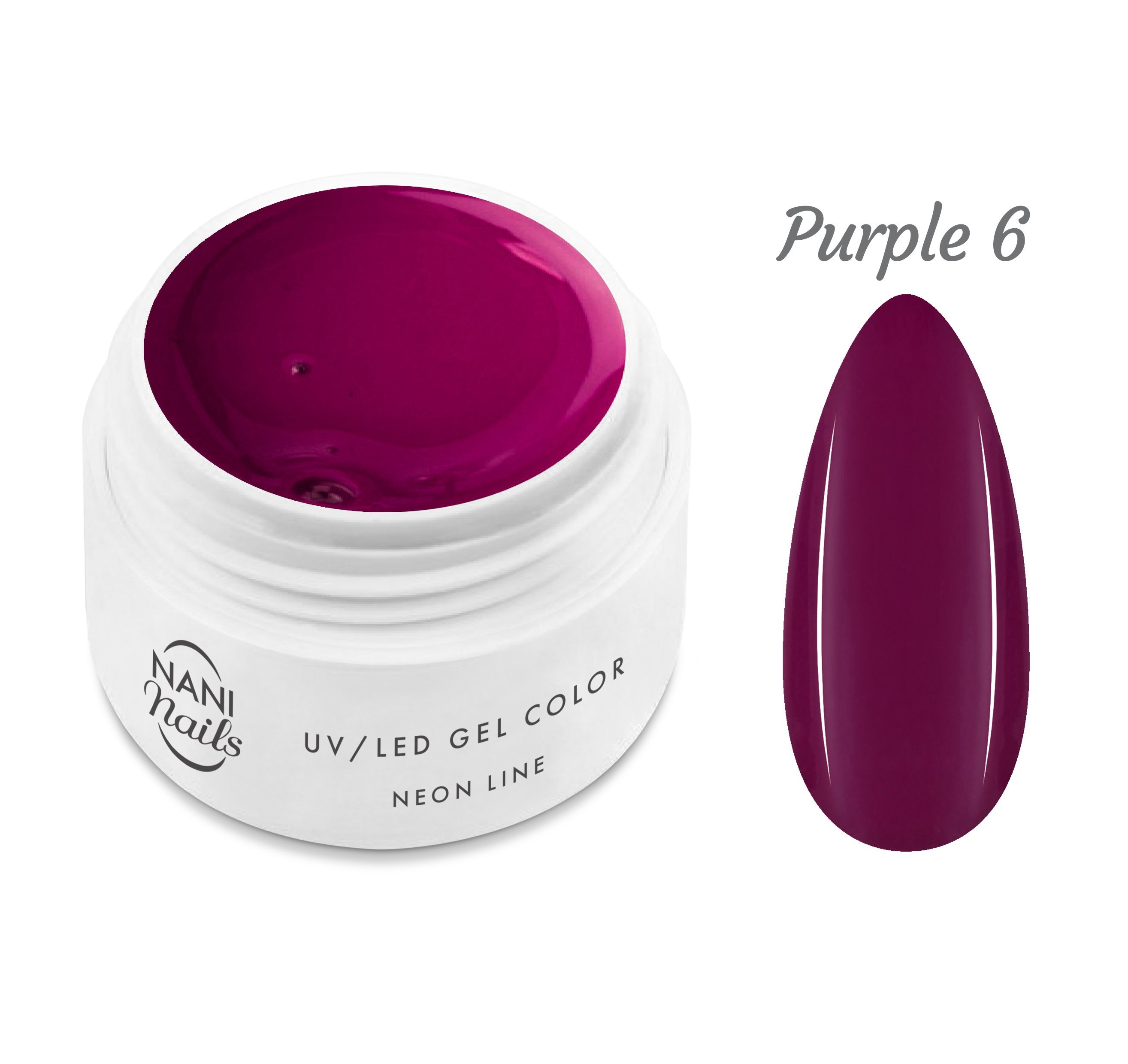 NANI UV gél Neon Line 5 ml - Purple