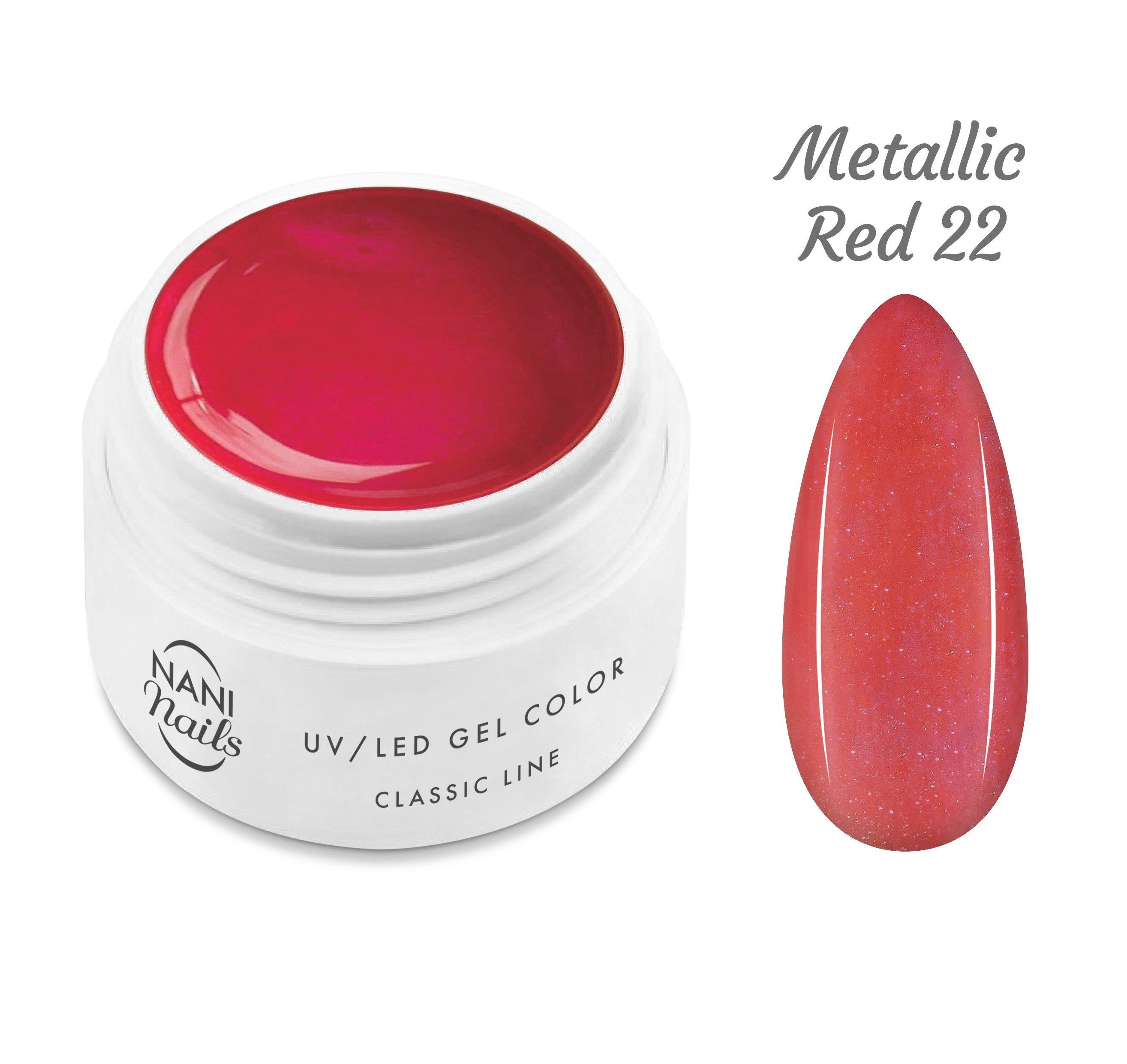 NANI UV gél Classic Line 5 ml - Metallic Red