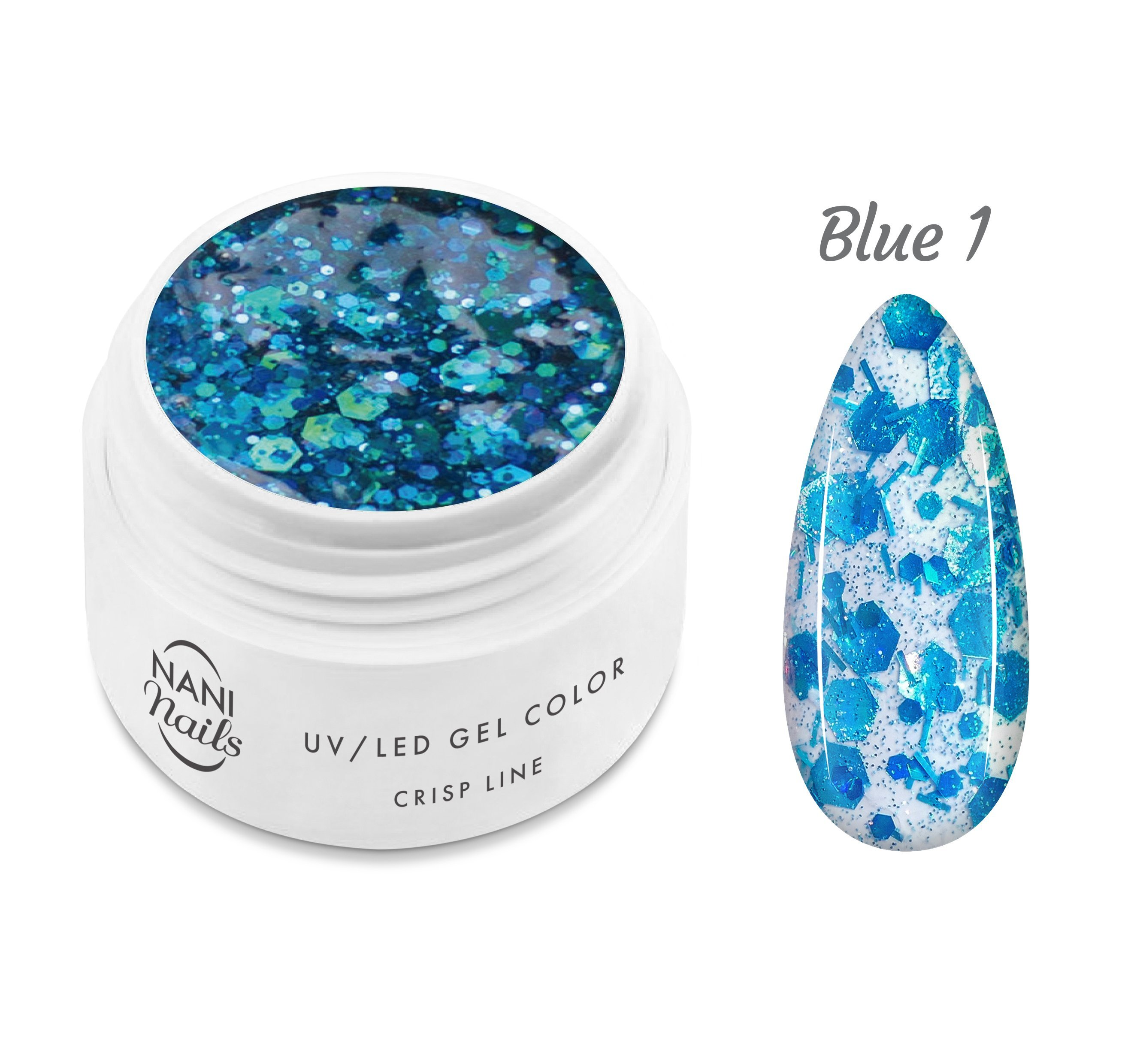 NANI UV gél Crisp Line 5 ml - Blue