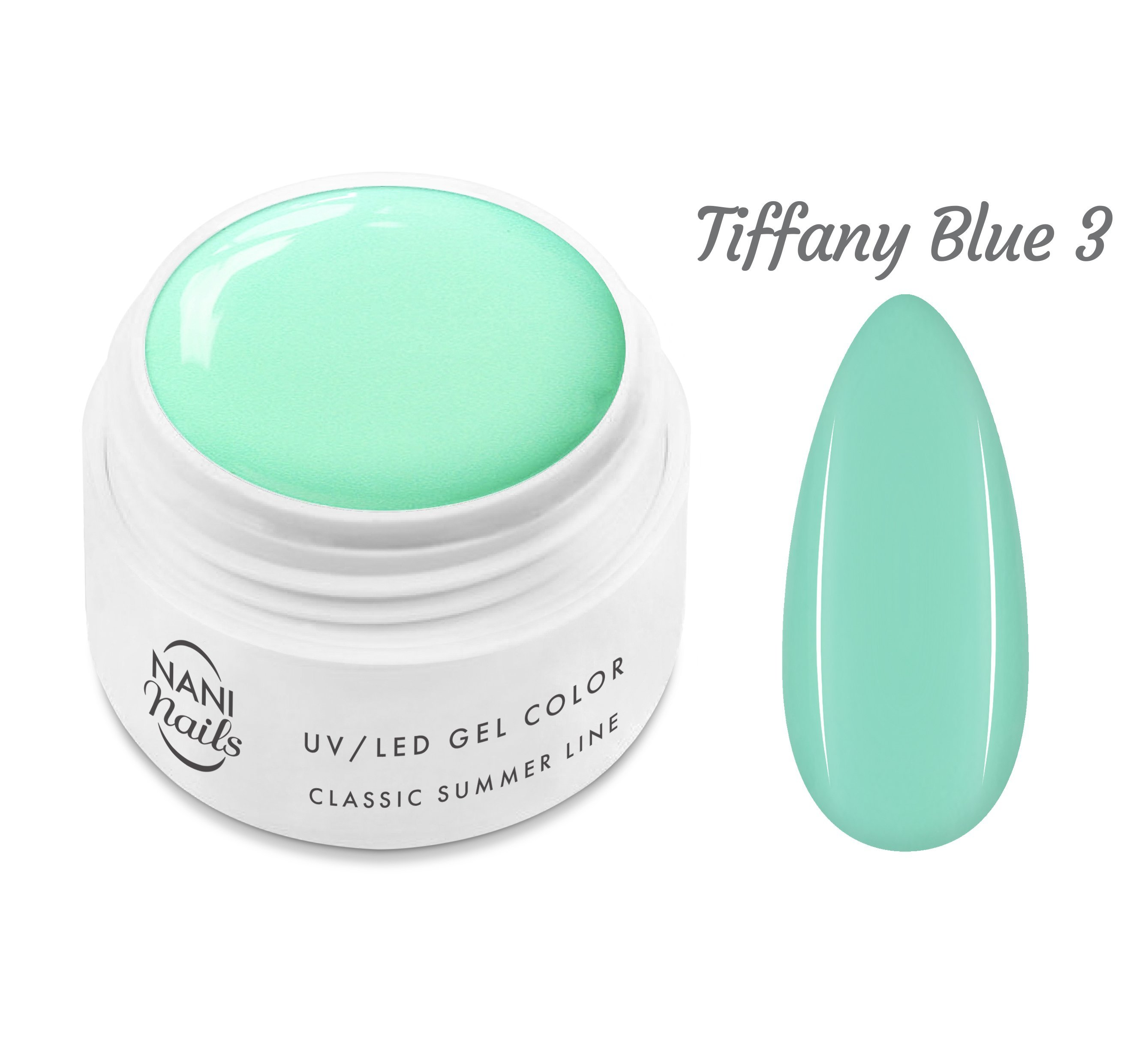 NANI UV gél Classic Summer Line 5 ml - Tiffany Blue