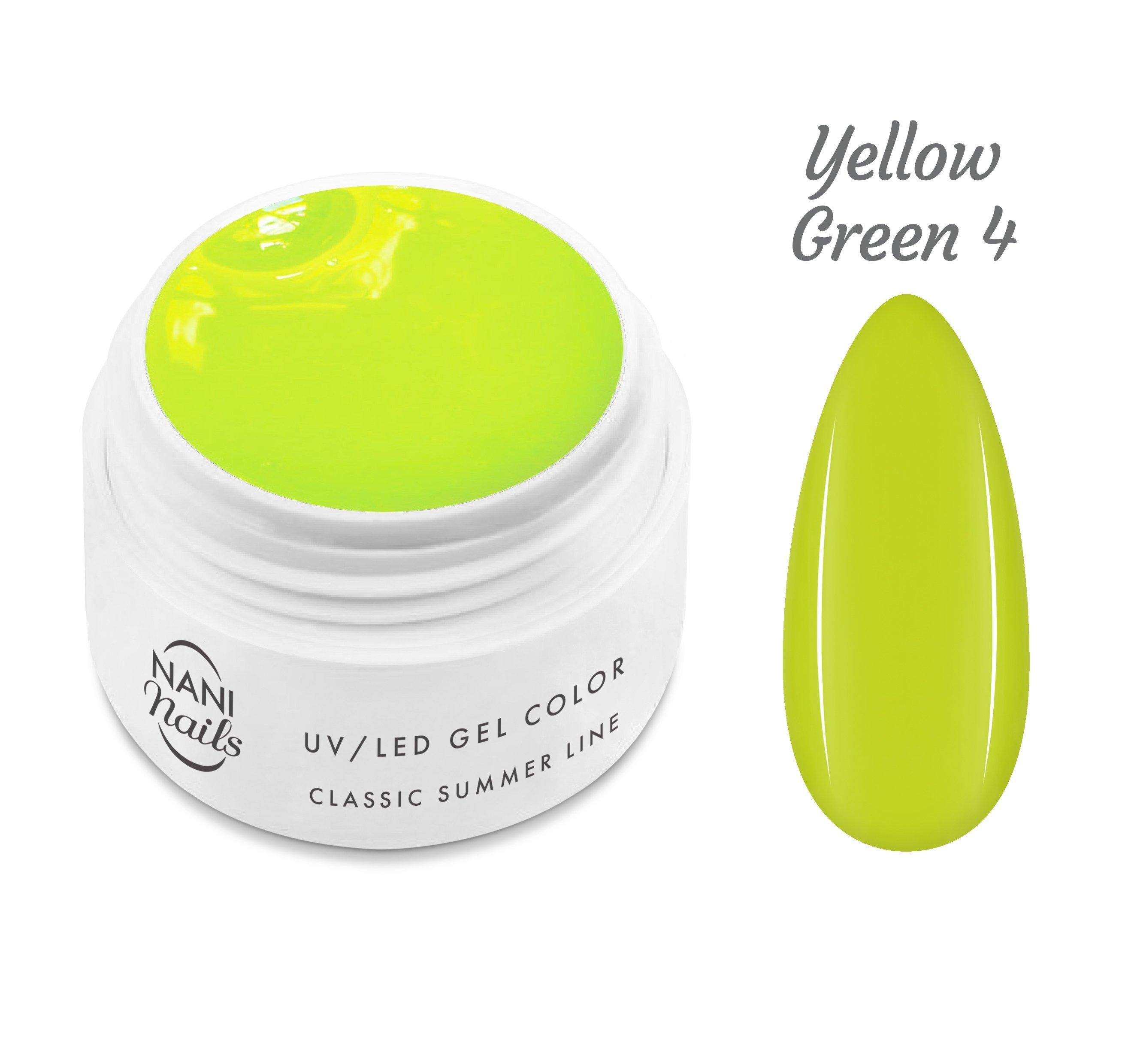 NANI UV gél Classic Summer Line 5 ml - Yellow Green