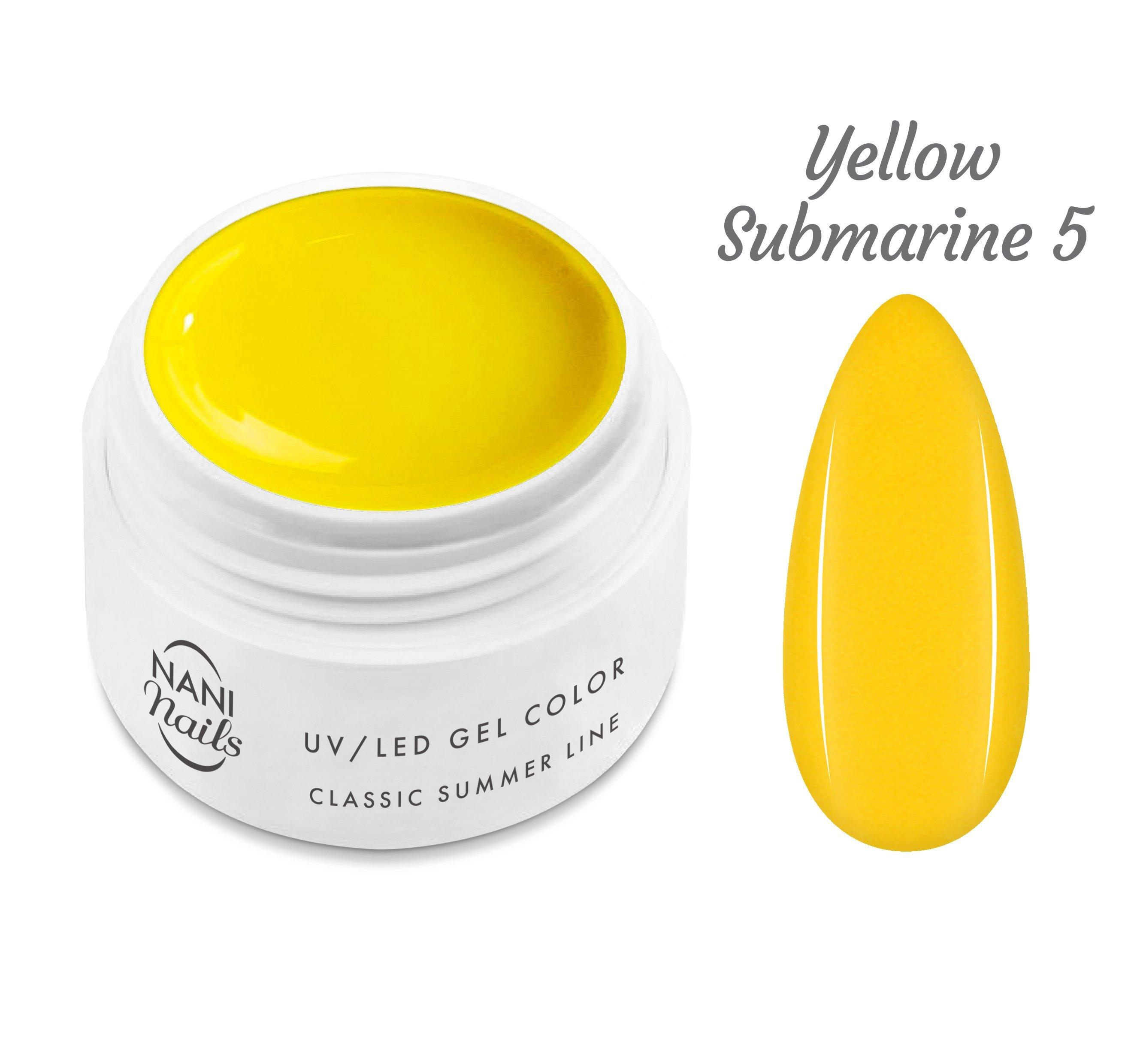 NANI UV gél Classic Summer Line 5 ml - Yellow Submarine