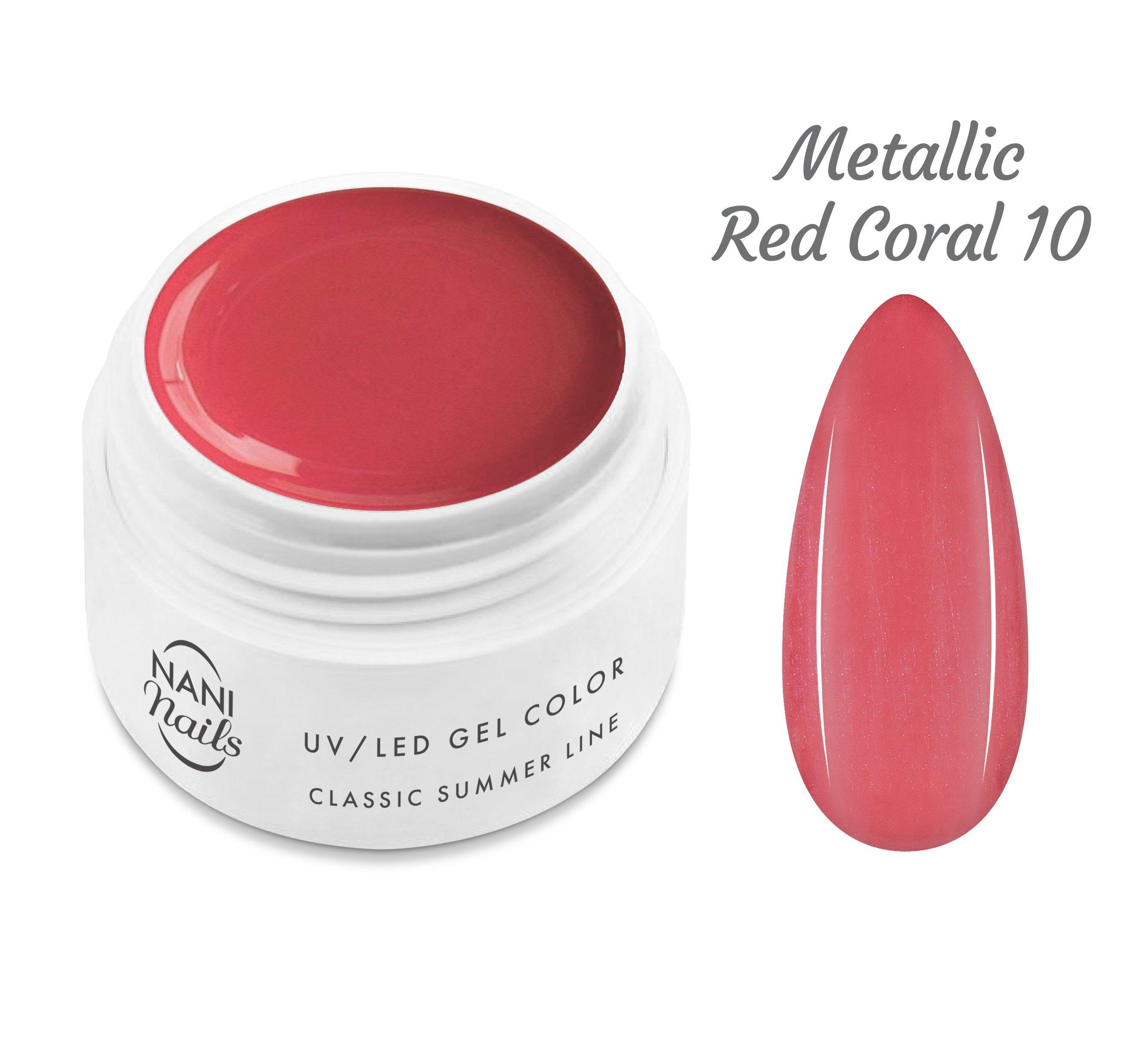 NANI UV gél Classic Summer Line 5 ml - Metallic Red Coral
