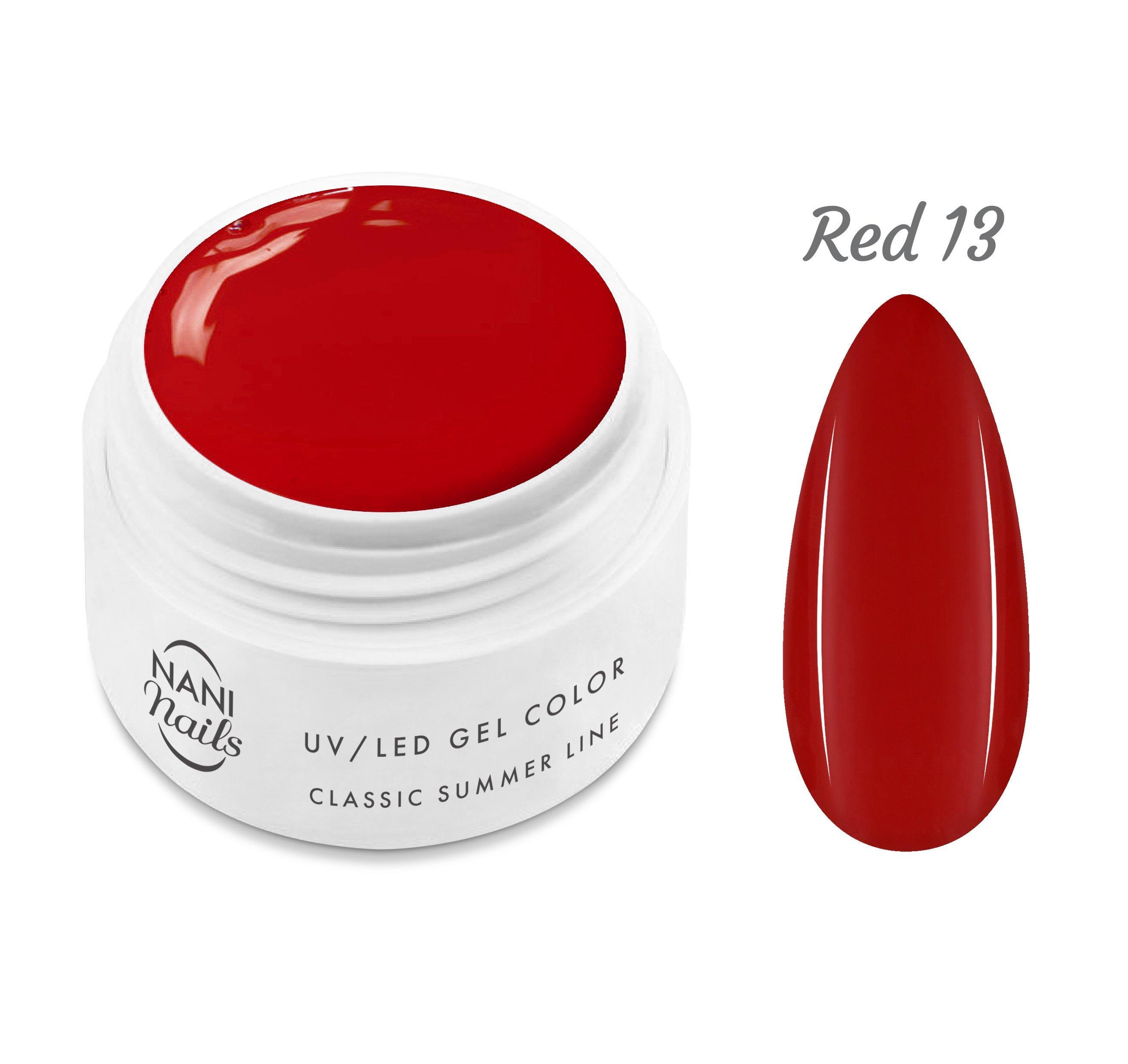 NANI UV gél Classic Summer Line 5 ml - Red