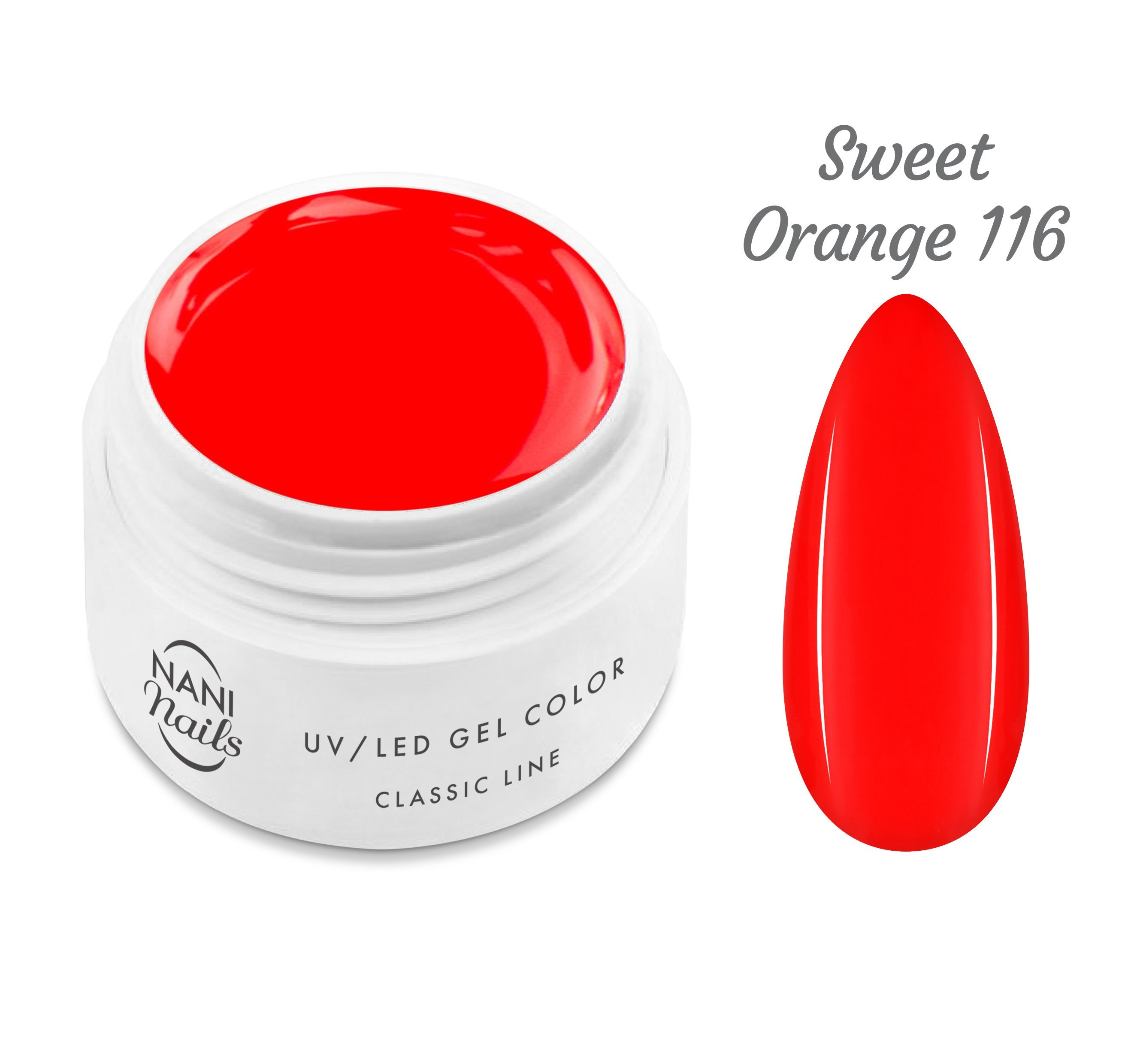 NANI UV gél Classic Neon Line 5 ml - Sweet Orange