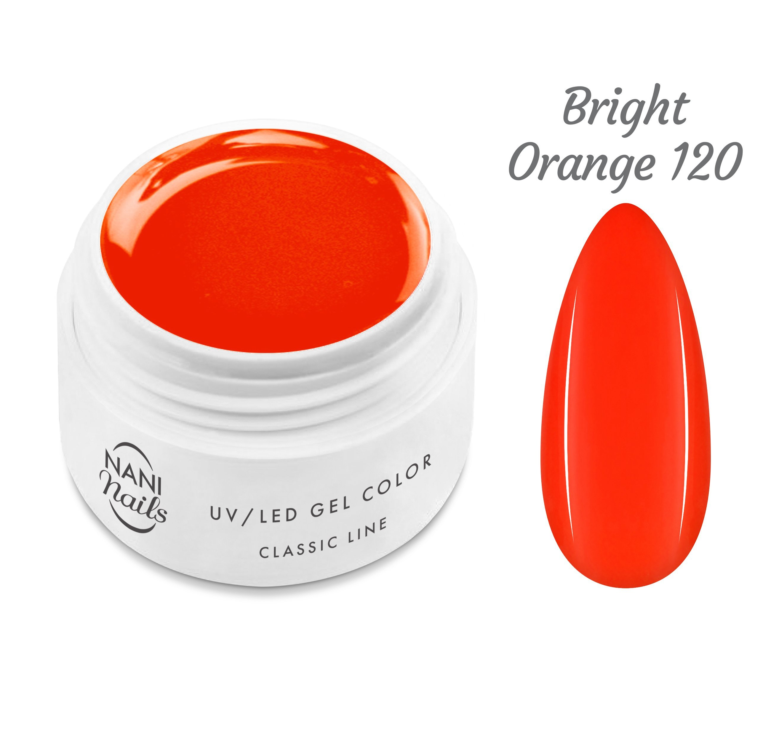 NANI UV gél Classic Neon Line 5 ml - Bright Orange