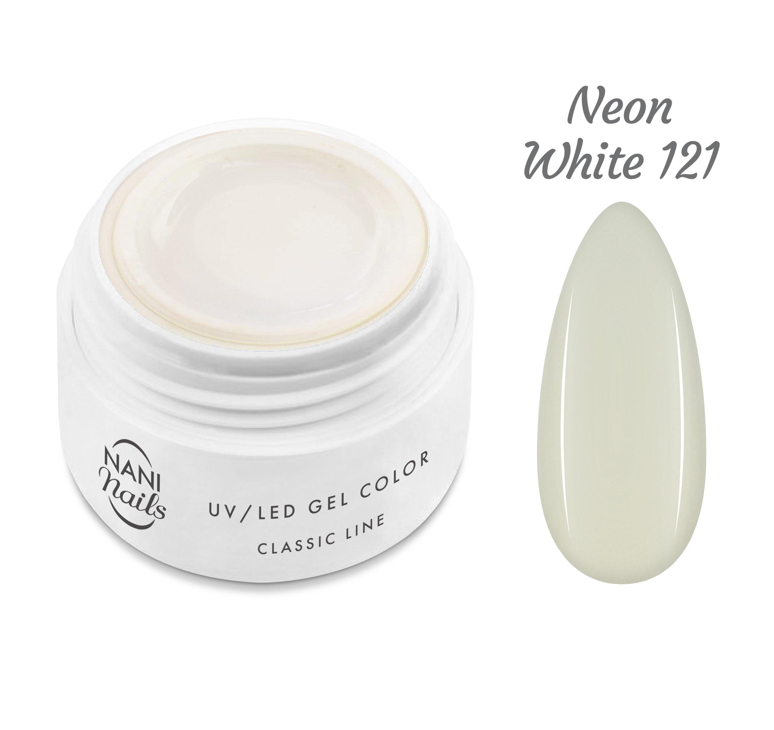 NANI UV gél Classic Neon Line 5 ml - Neon White