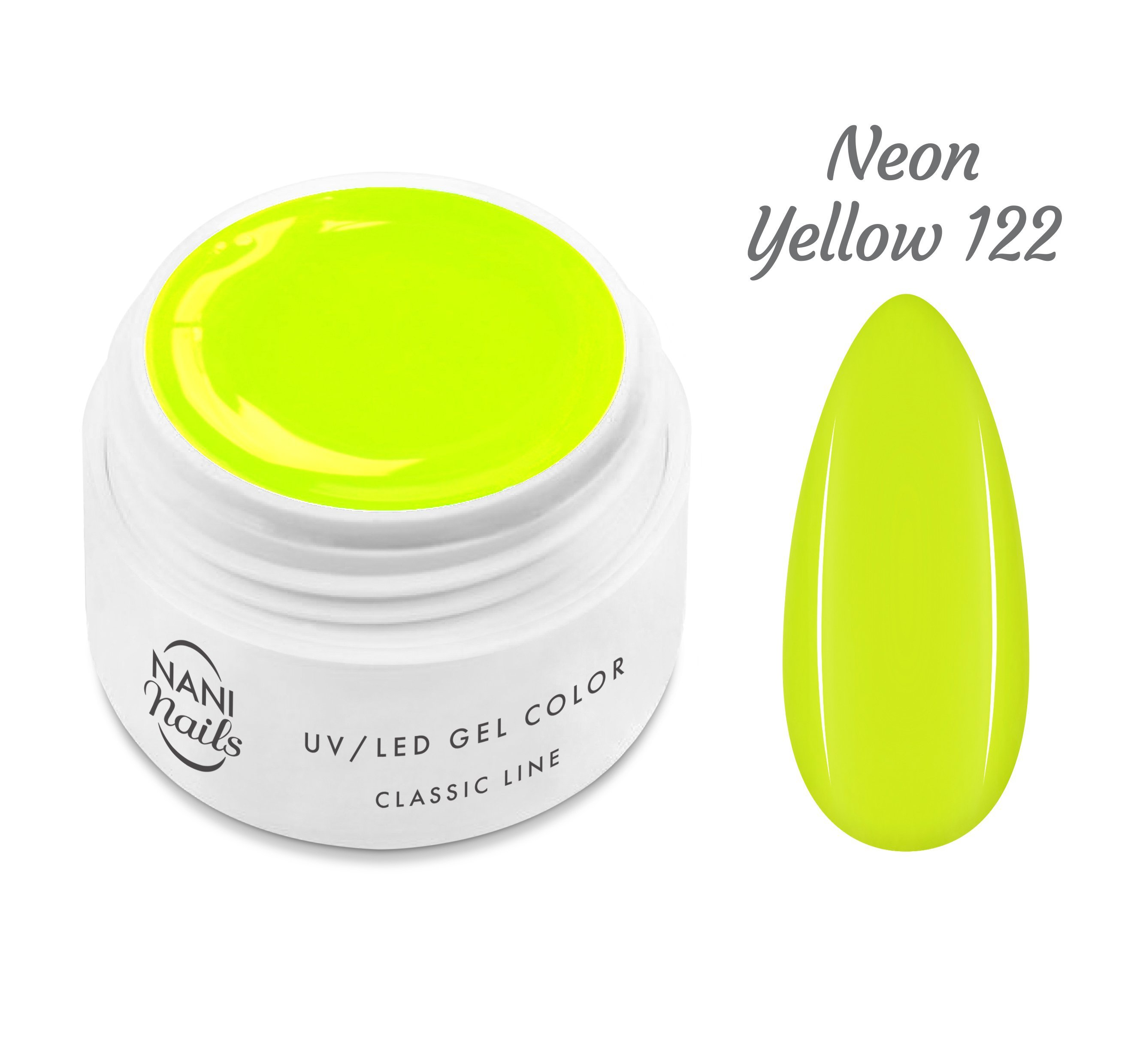 NANI UV gél Classic Neon Line 5 ml - Neon Yellow