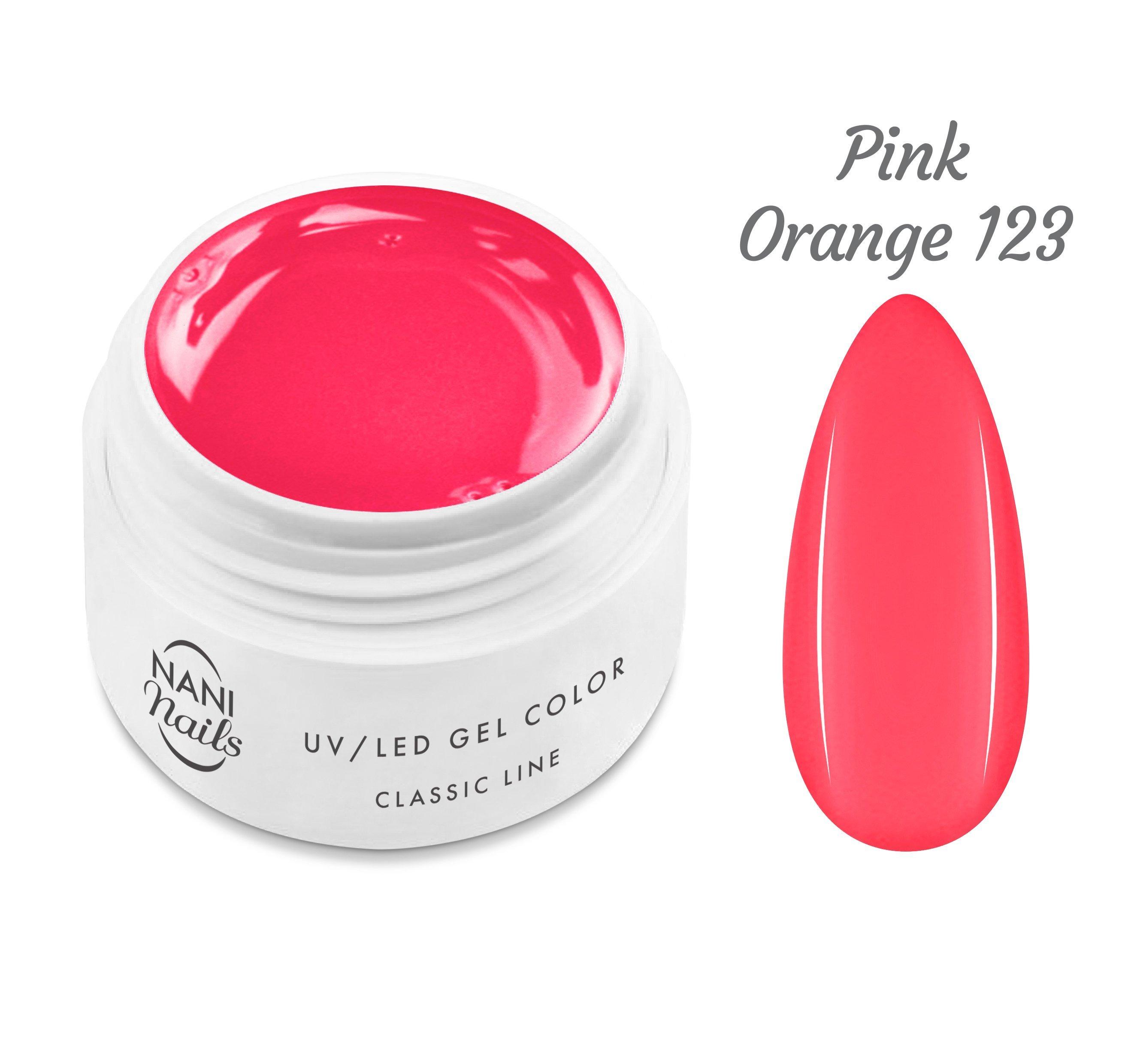 NANI UV gél Classic Neon Line 5 ml - Pink Orange