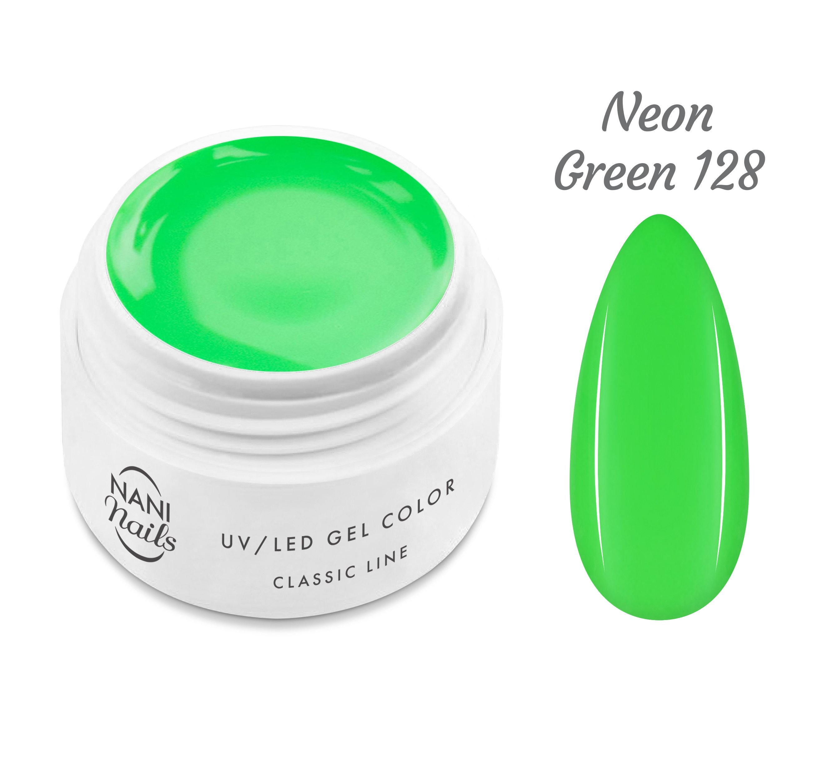 NANI UV gél Classic Neon Line 5 ml - Neon Green