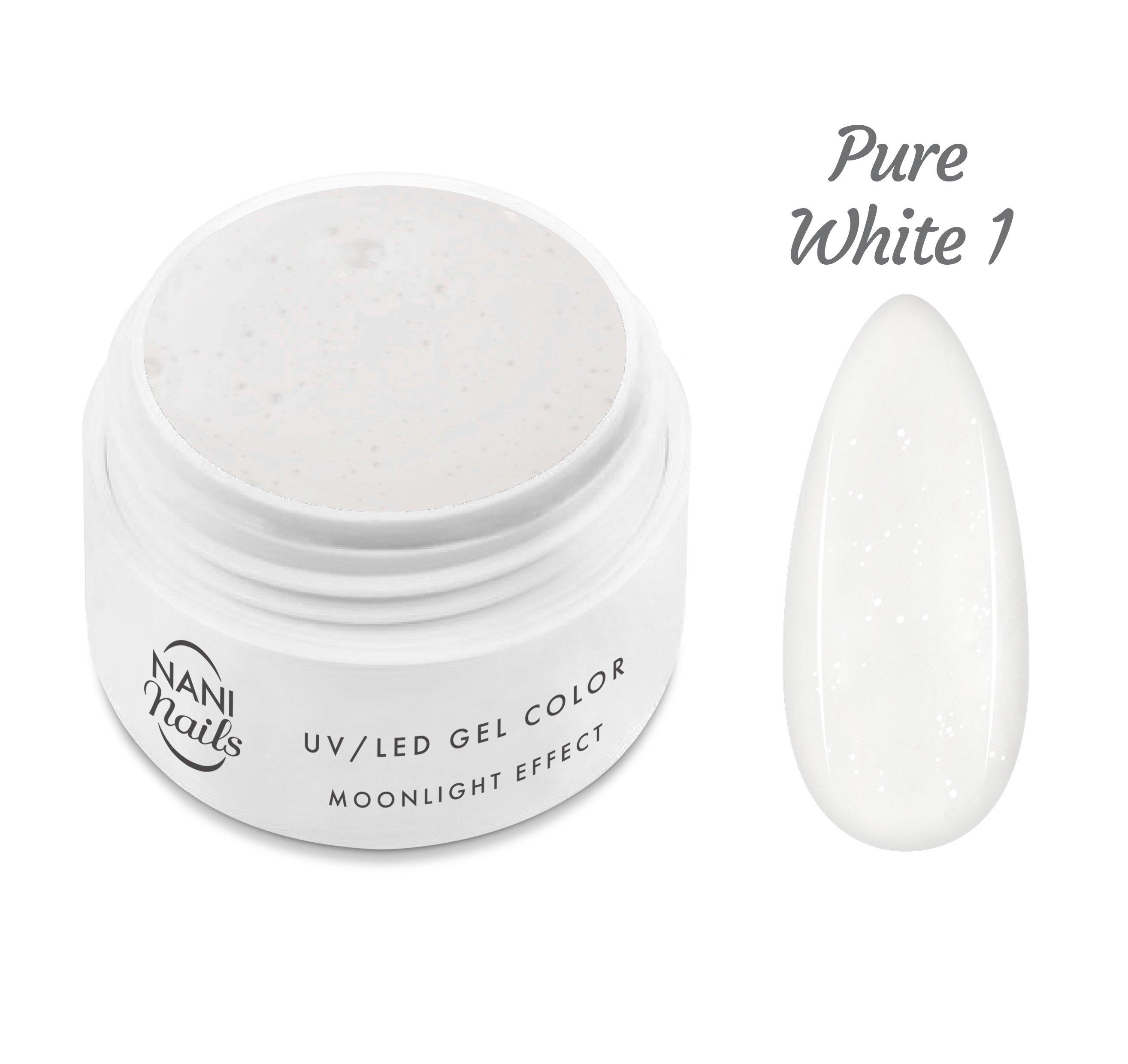 NANI UV gél Moonlight Effect 5 ml - Pure White