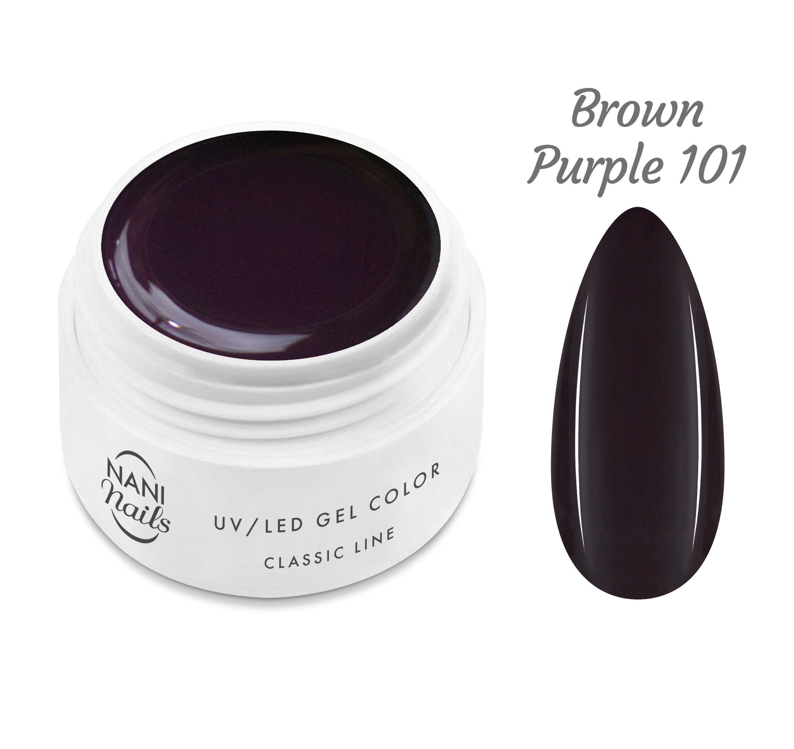 NANI UV gél Classic Line 5 ml - Brown Purple