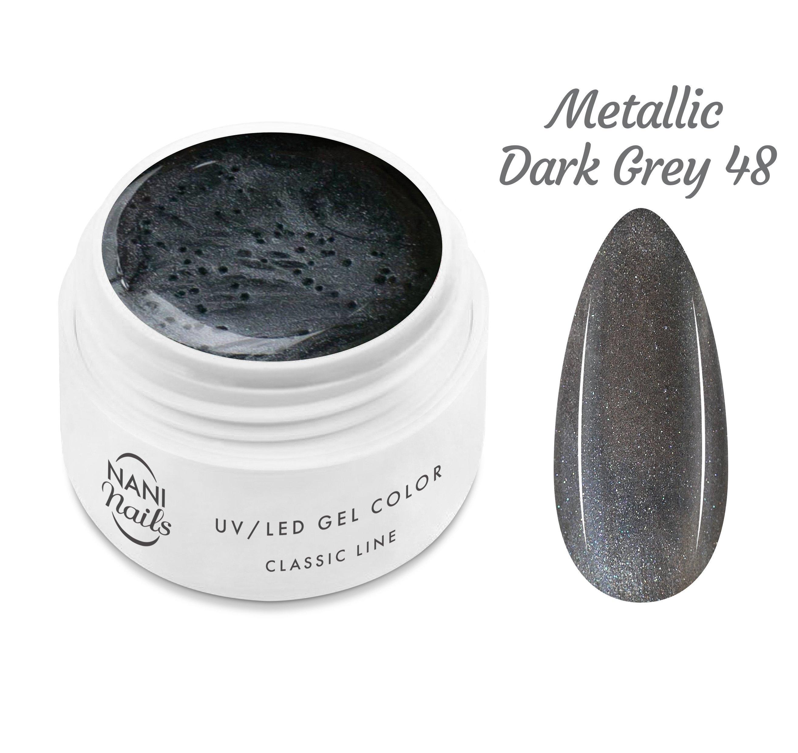 NANI UV gél Classic Line 5 ml - Metallic Dark Grey