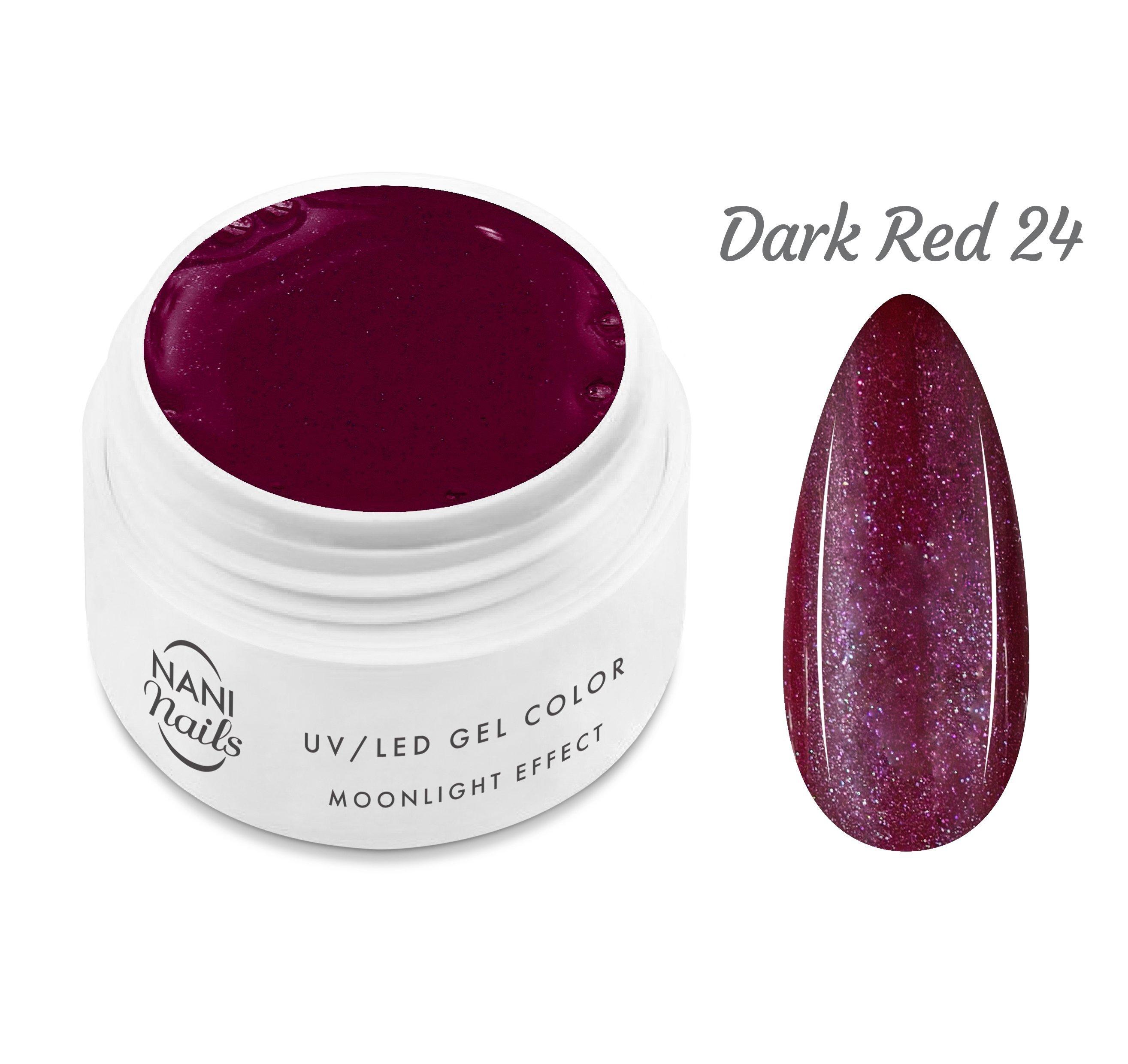 NANI UV gél Moonlight Effect 5 ml - Dark Red